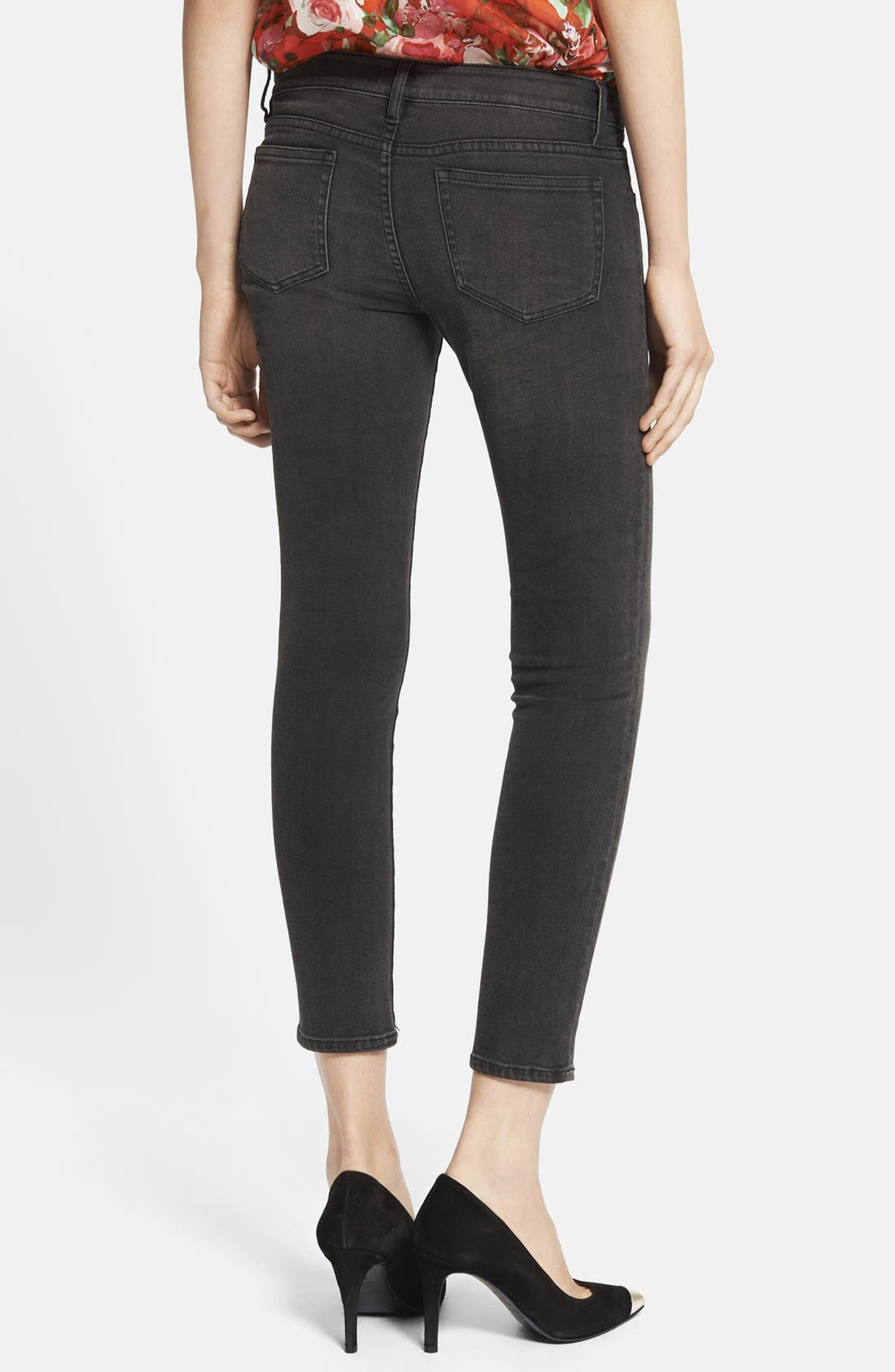 Alternate Image 2  - The Kooples Side Zip Crop Skinny Jeans