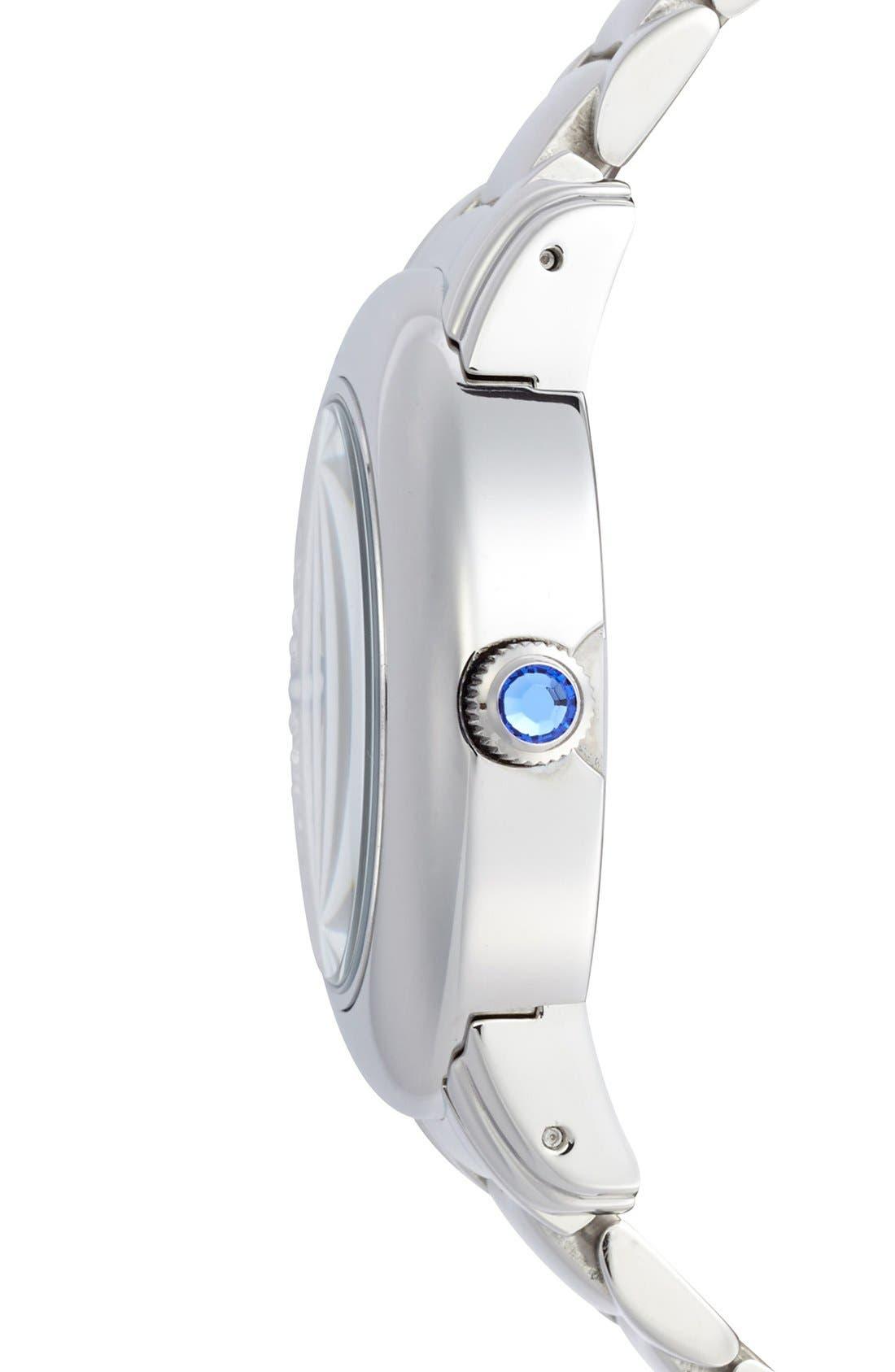 Alternate Image 3  - Folli Follie 'Urban Spin' Crystal Dial Bracelet Watch, 43mm