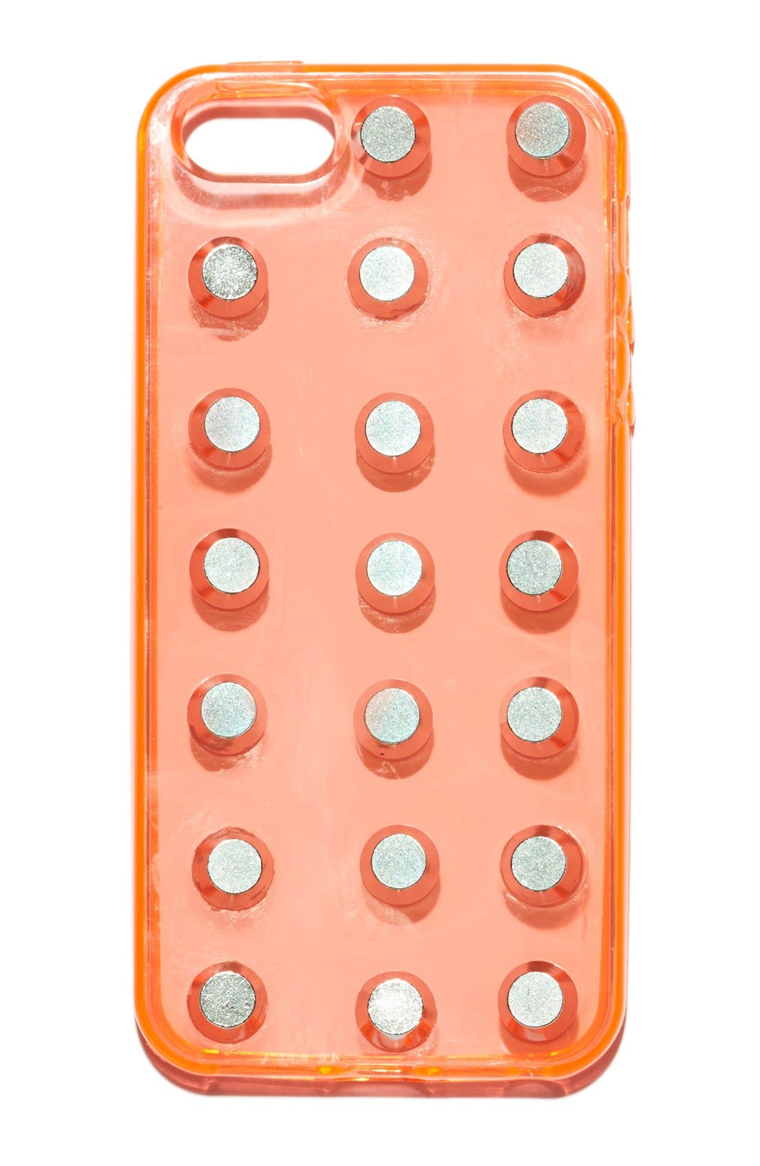Alternate Image 1 Selected - DUARTS | JEM Studded Silicone iPhone 5 & 5S Case
