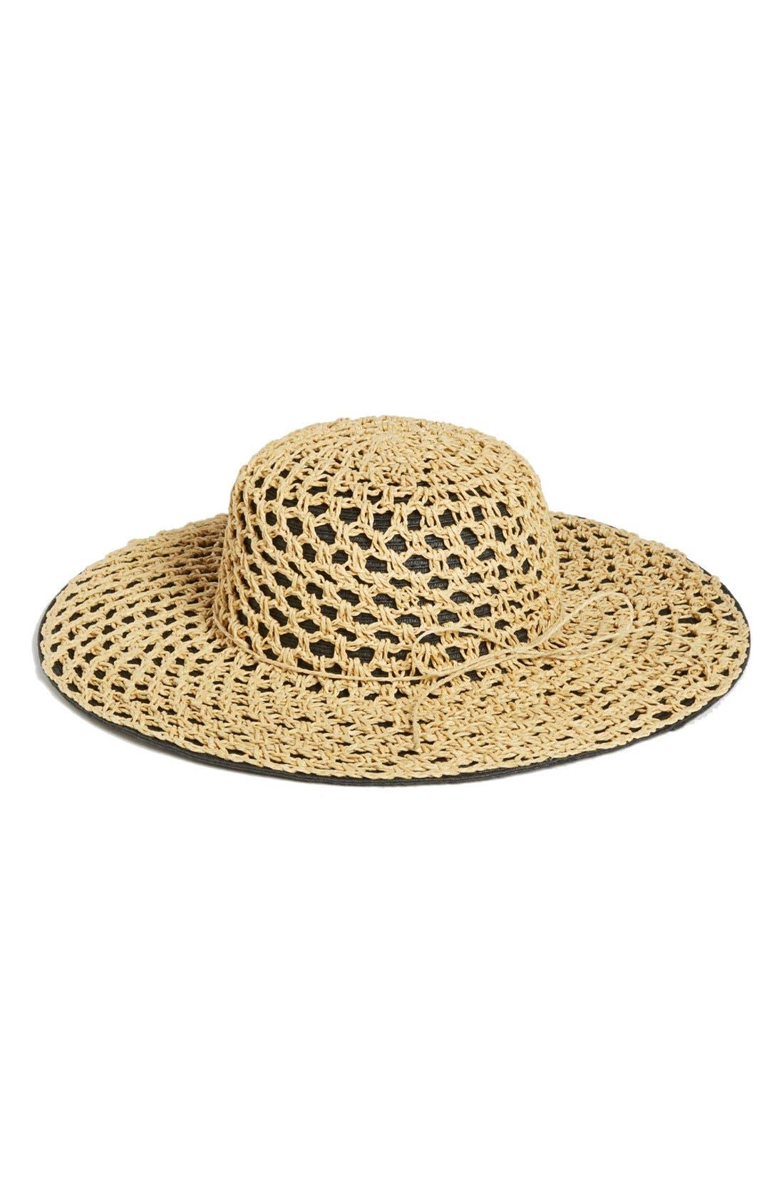 Alternate Image 1 Selected - Nordstrom Crochet Sun Hat