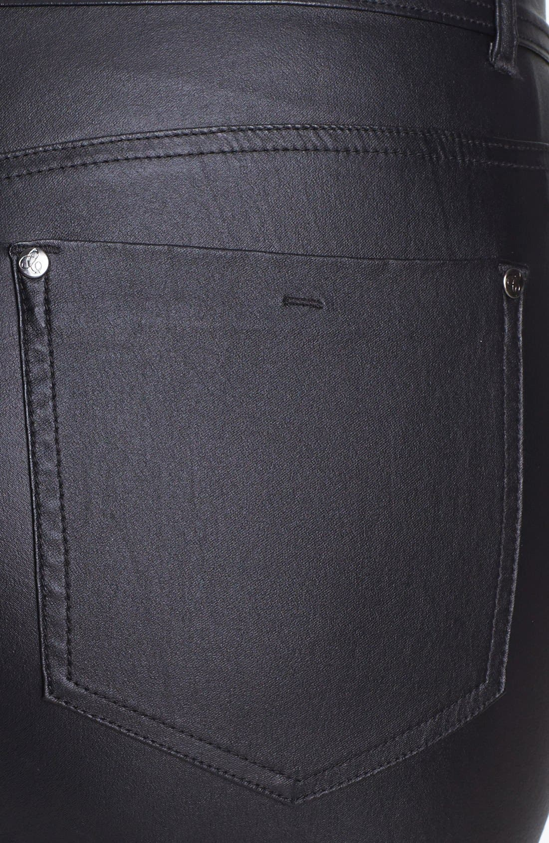 Alternate Image 3  - City Chic Coated Stretch Jeans (Plus Size)