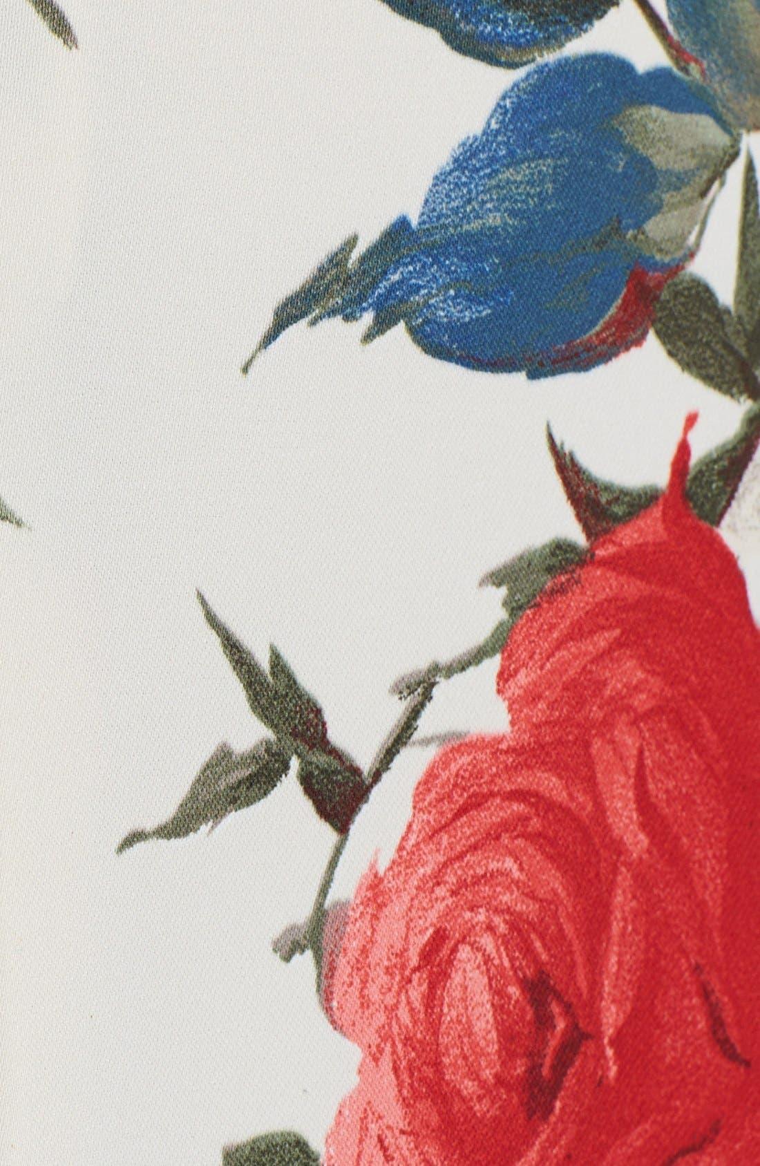 Alternate Image 3  - ABS by Allen Schwartz Vintage Floral Print Fit & Flare Dress (Plus Size)