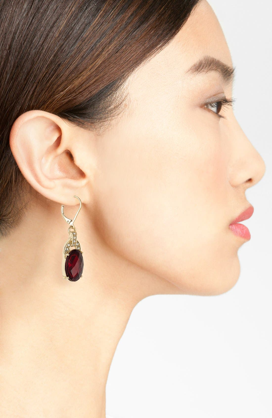 Alternate Image 2  - Anne Klein Stone Drop Earrings