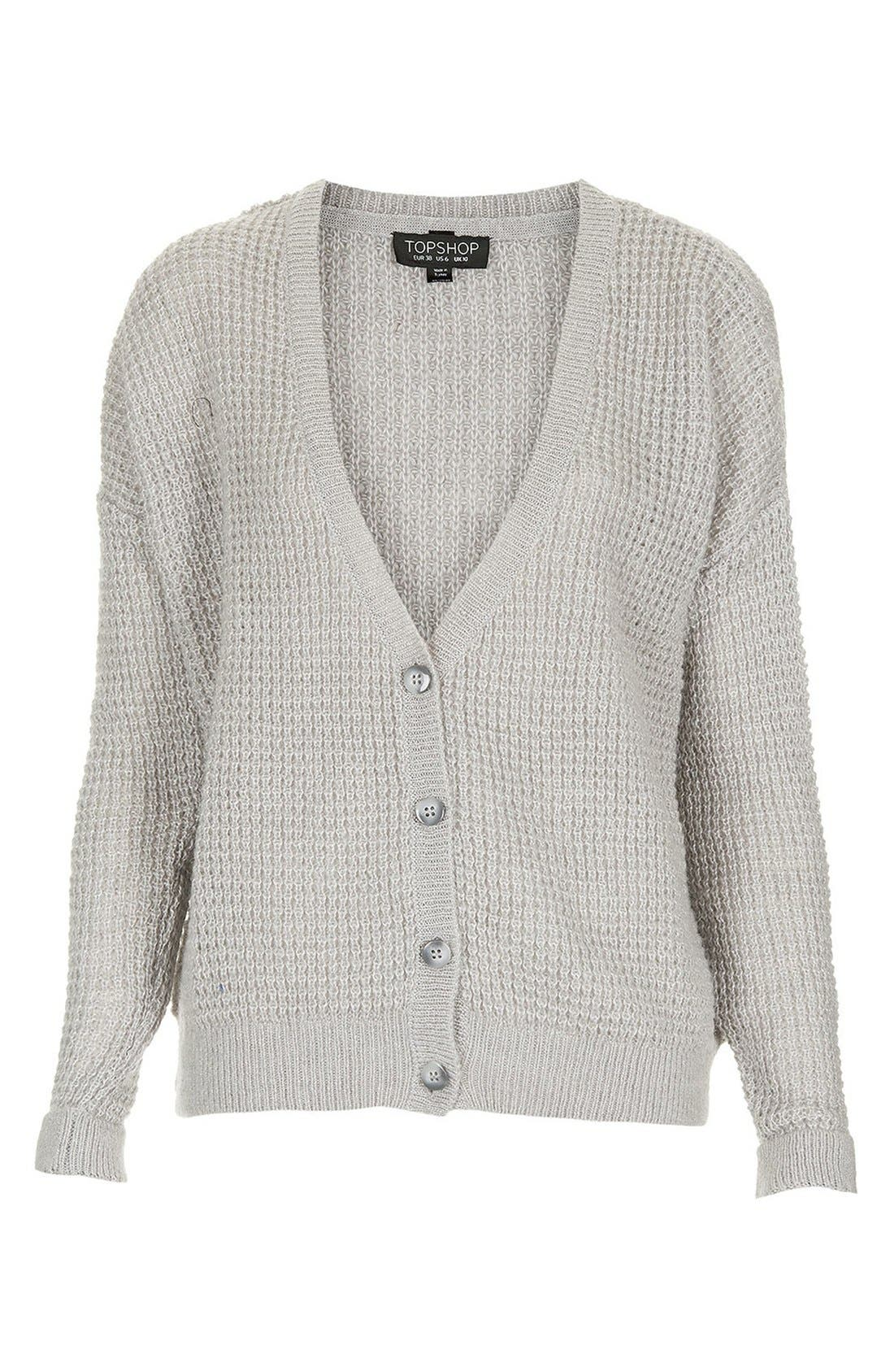Alternate Image 3  - Topshop 'Lulu' Textured Stitch Cardigan