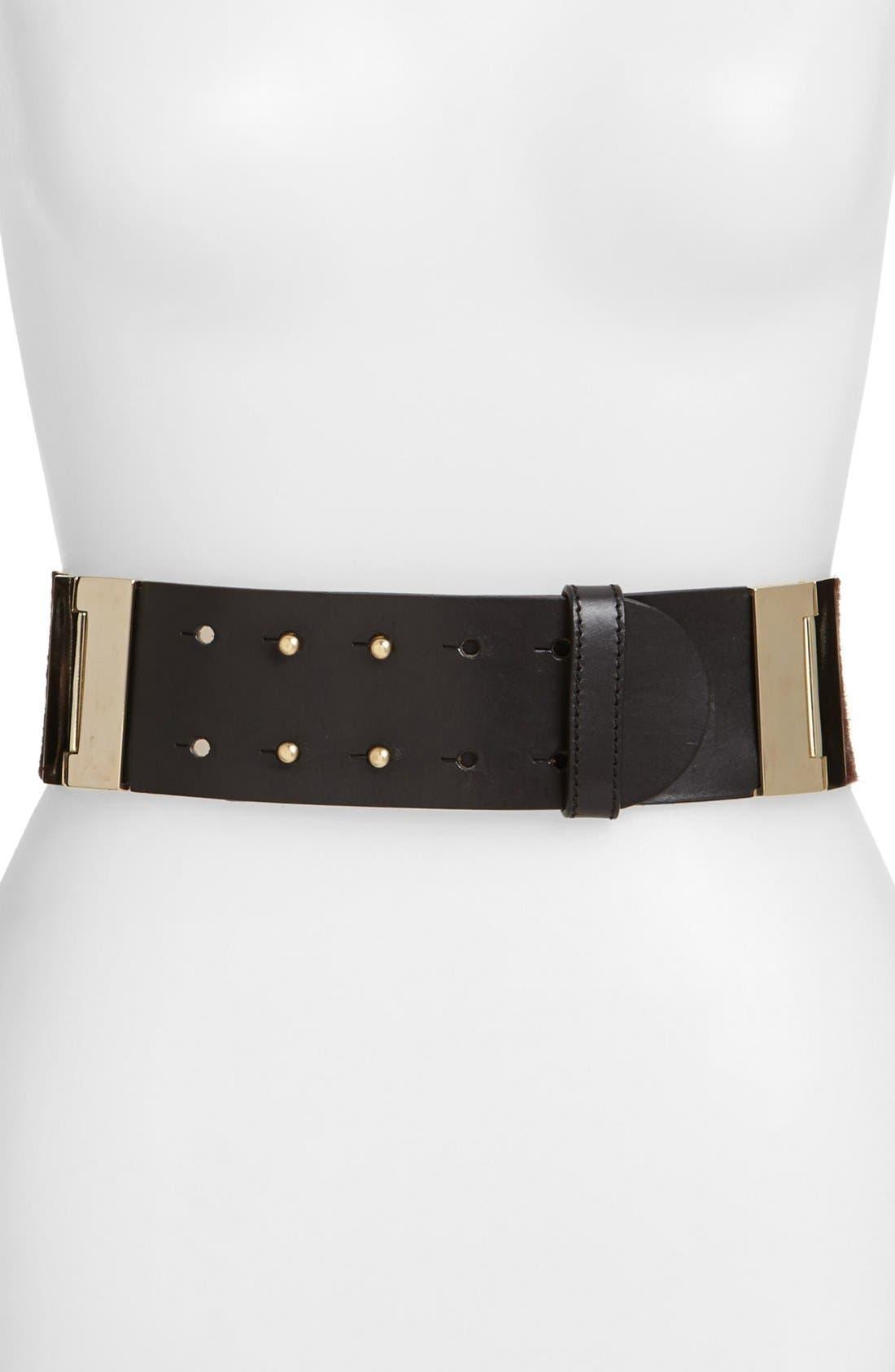 Main Image - Lafayette 148 New York Hinged Calf Hair Belt