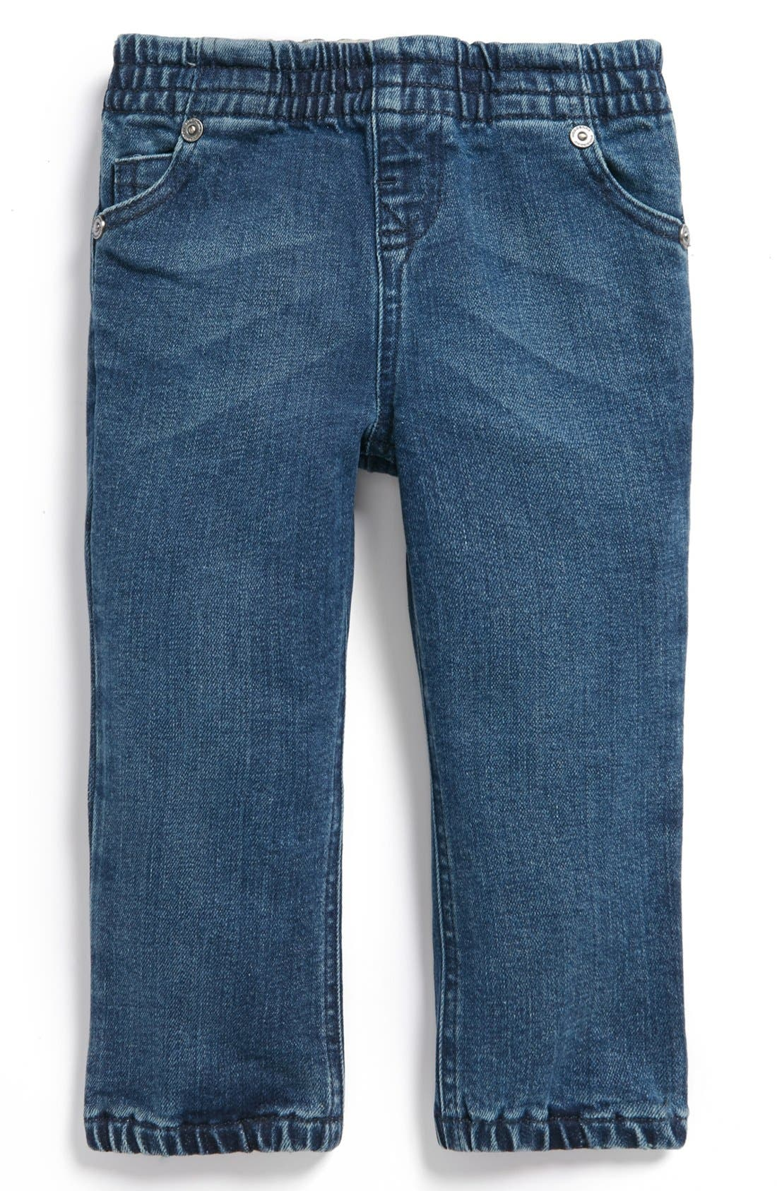 Alternate Image 2  - Burberry 'Eloise' Straight Leg Jeans (Baby Girls)