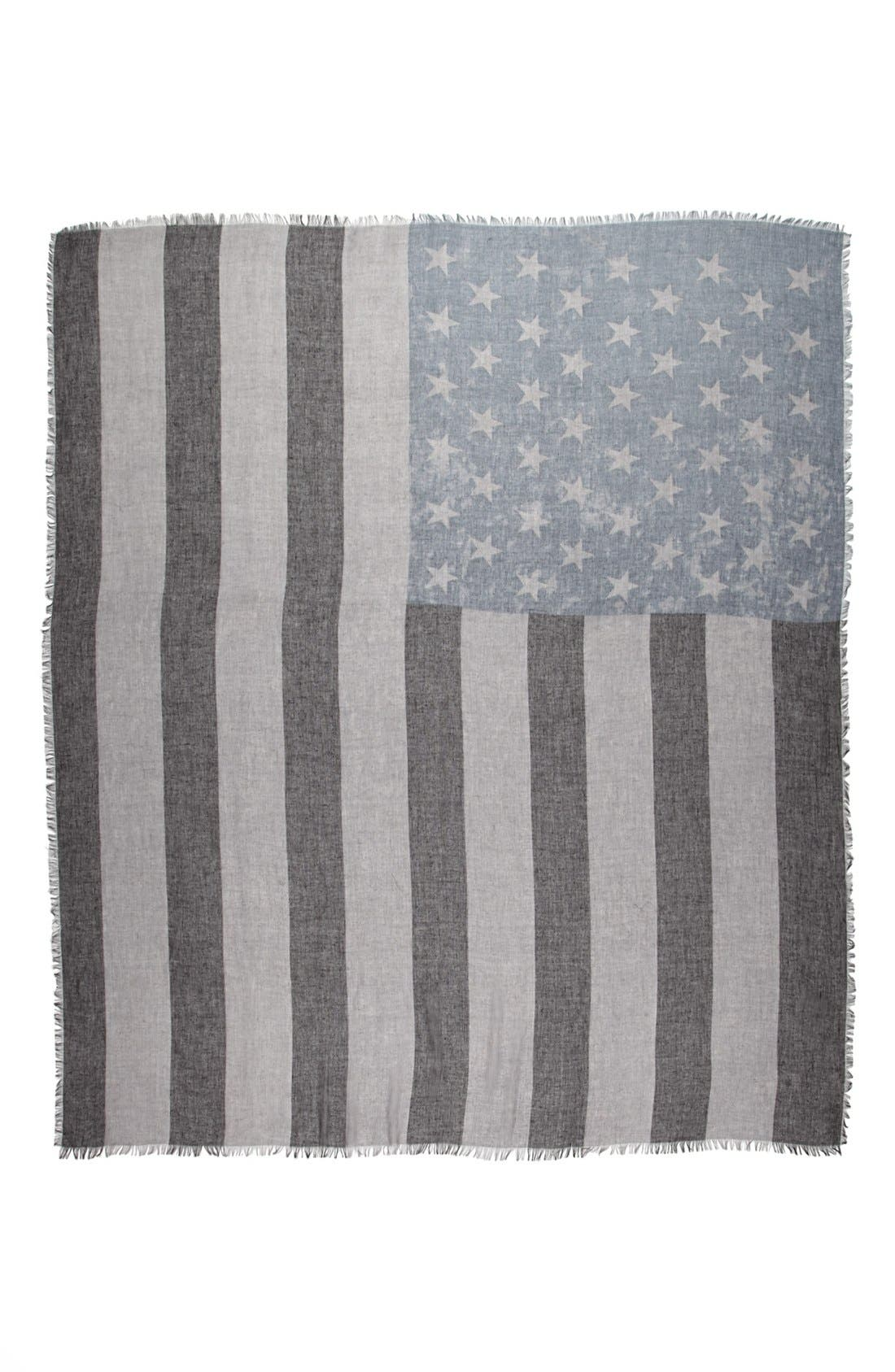 Alternate Image 2  - Roffe Accessories American Flag Scarf