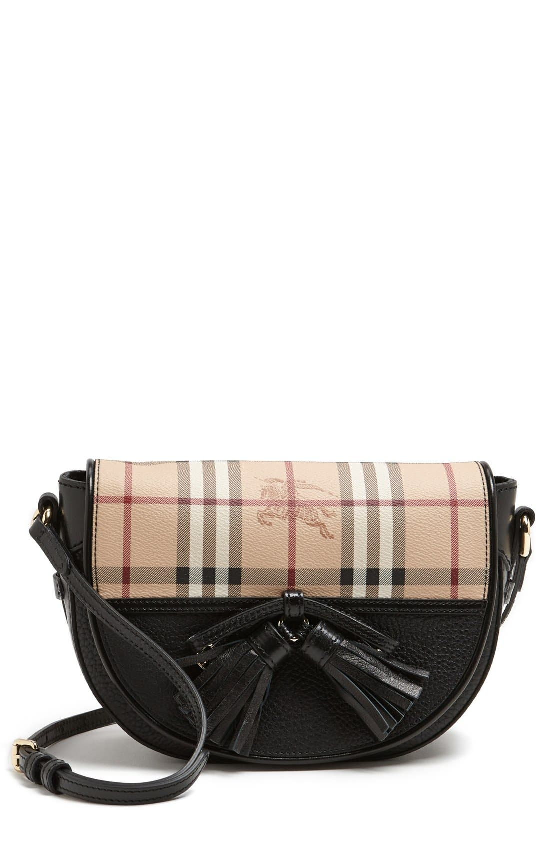 Alternate Image 1 Selected - Burberry 'Small Maydown' Leather Crossbody Bag