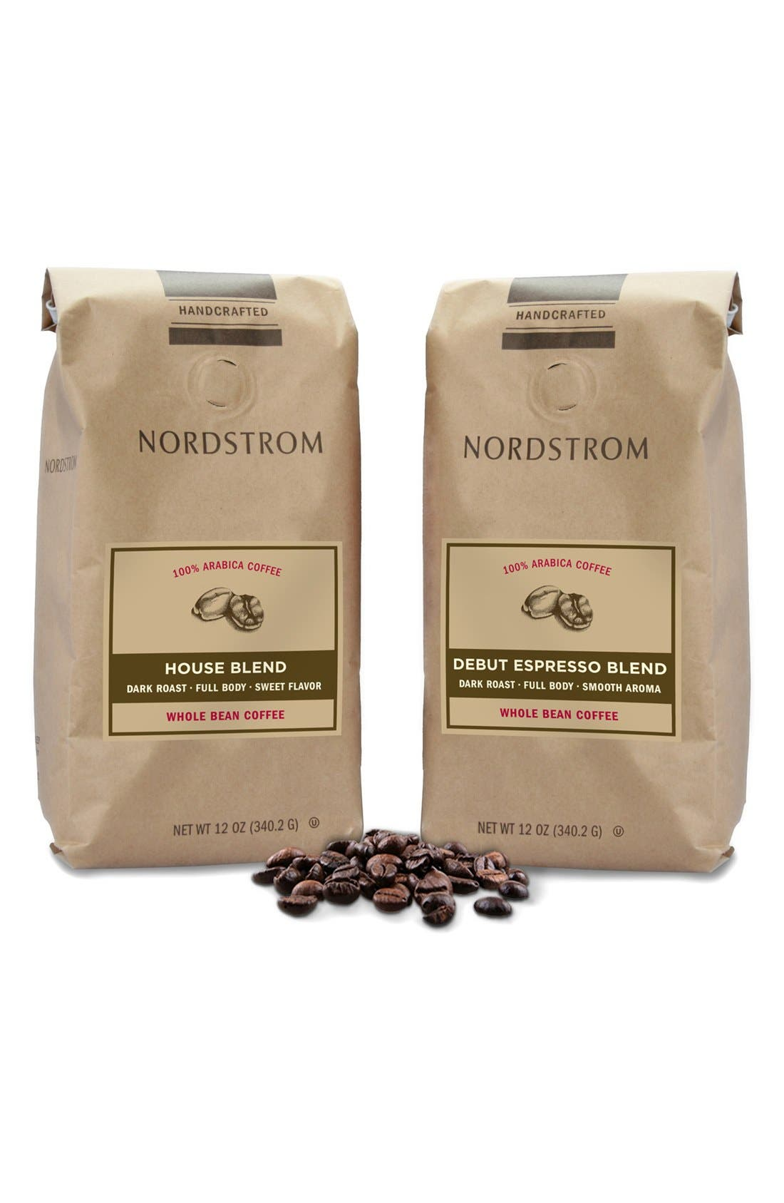 Nordstrom Coffee 'Debut Espresso Blend' & 'House Blend' Whole Bean Coffee (2-Pack)