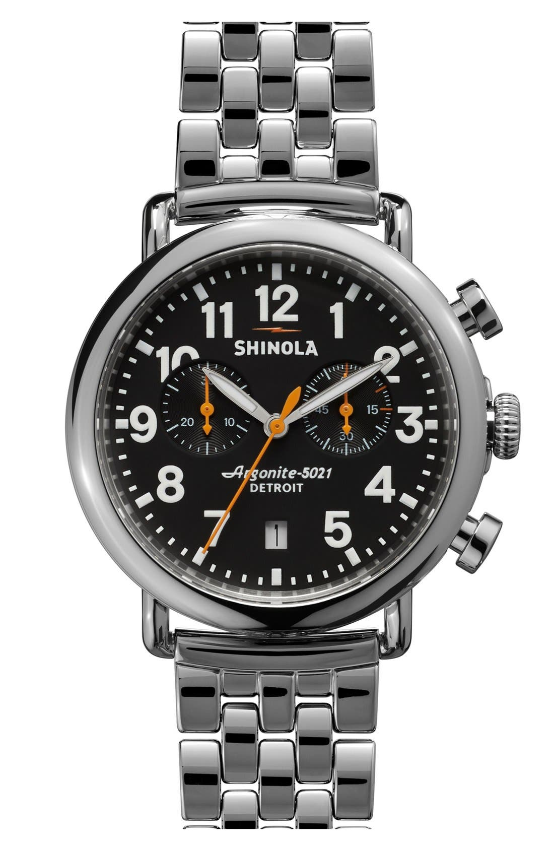 Alternate Image 1 Selected - Shinola 'The Runwell Chrono' Bracelet Watch, 41mm