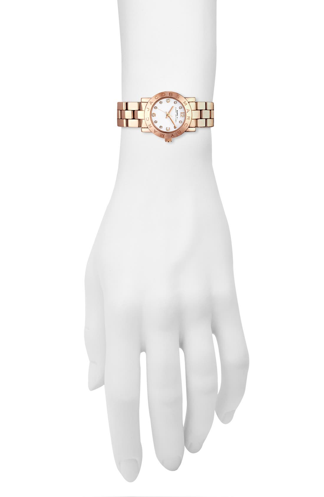 Alternate Image 4  - MARC JACOBS 'Small Amy' Crystal Bracelet Watch, 26mm