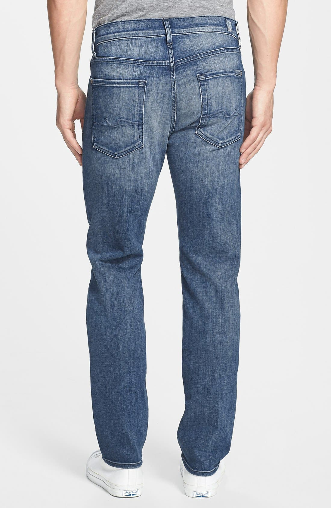 Alternate Image 2  - 7 For All Mankind® 'Slimmy - Luxe Performance' Slim Fit Jeans (Nakitta Blue)