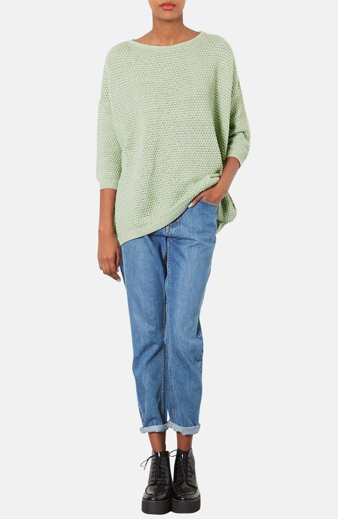 Alternate Image 4  - Topshop Tulip Stitch Sweater