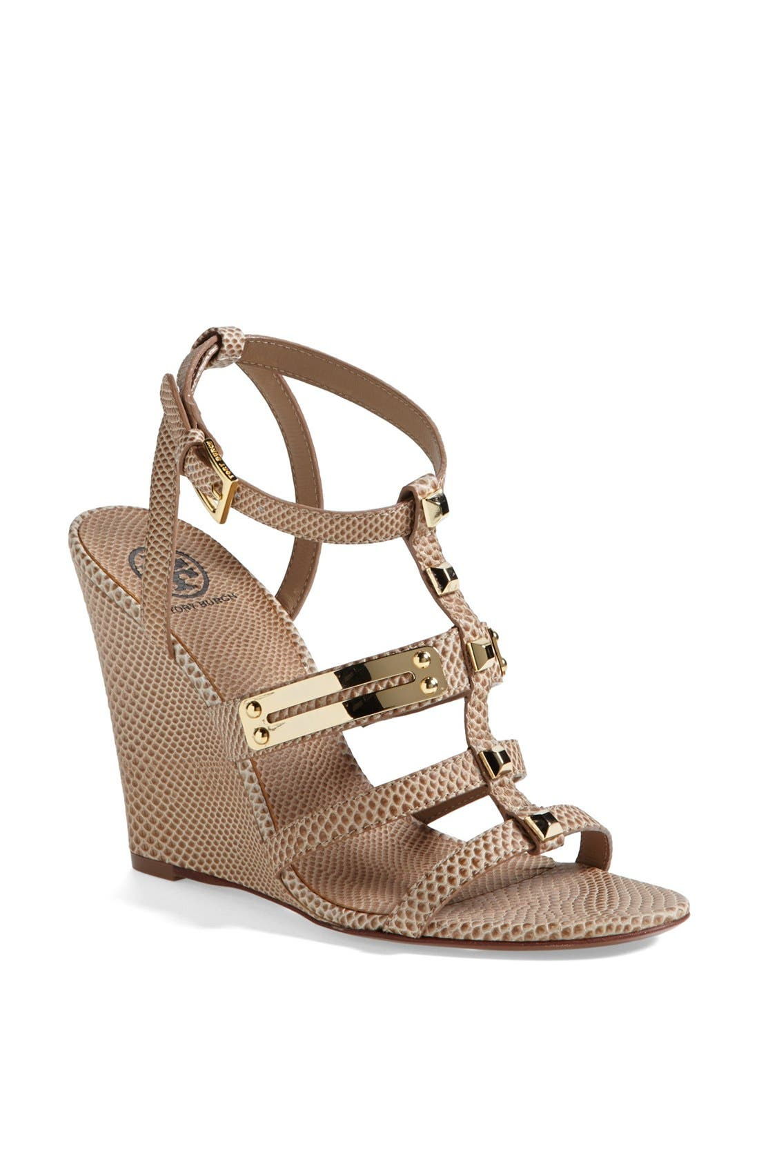Alternate Image 1 Selected - Tory Burch 'Iliana' Wedge Sandal (Online Only)