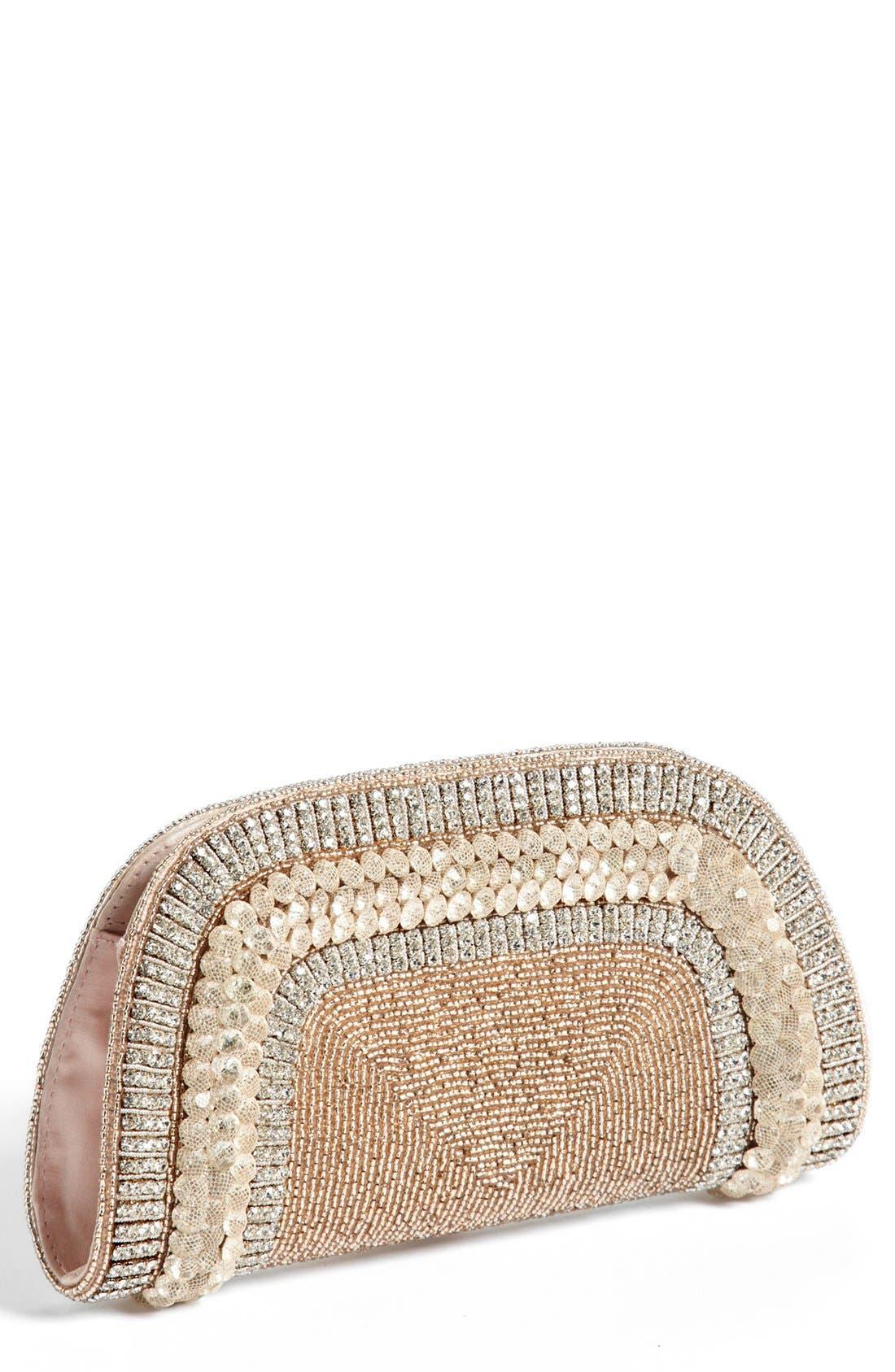 Alternate Image 1 Selected - Micky London Handbags Embellished Fan Clutch