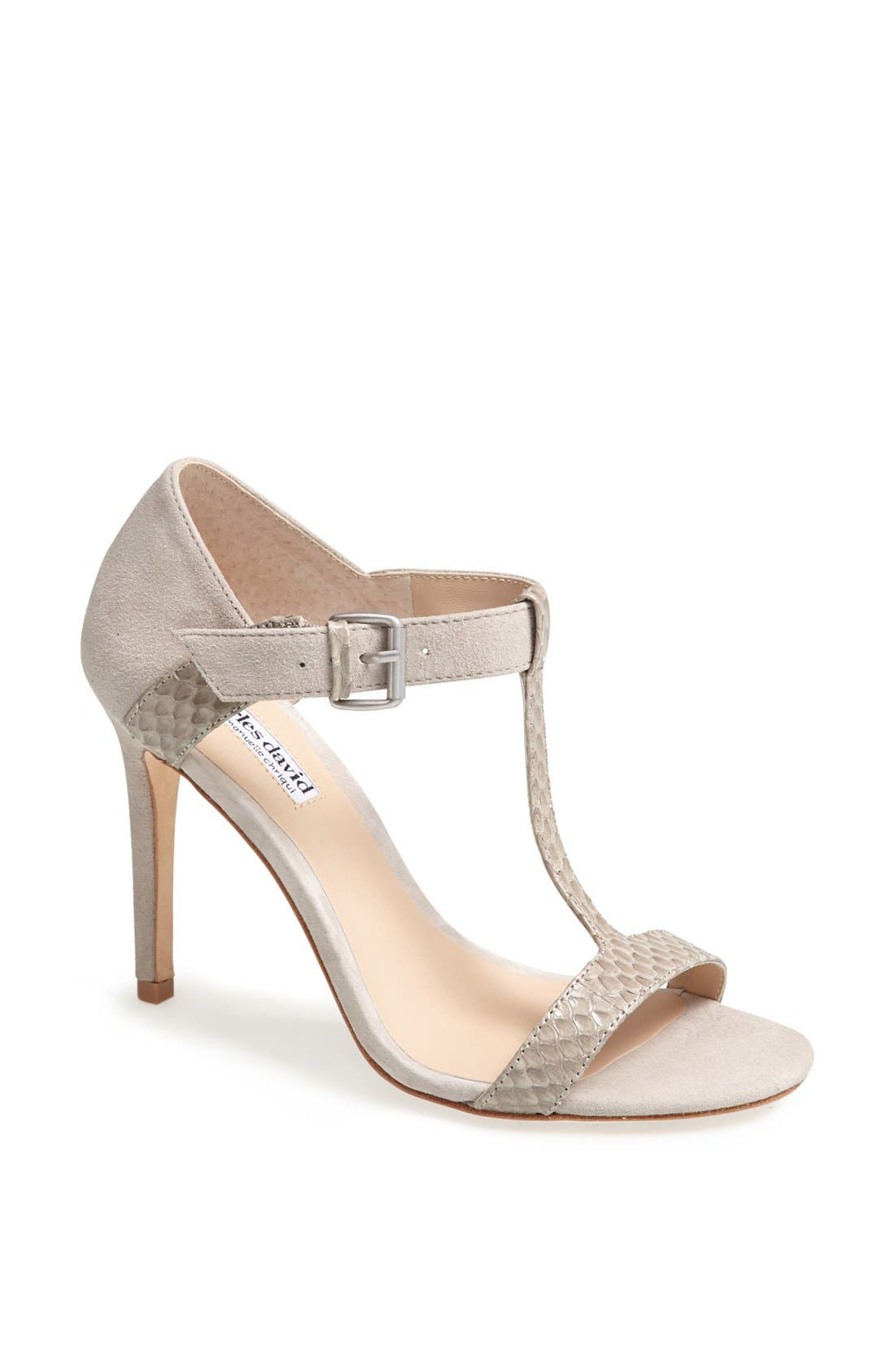 Alternate Image 1 Selected - Charles David 'Imana' Snake Embossed Leather & Suede Sandal