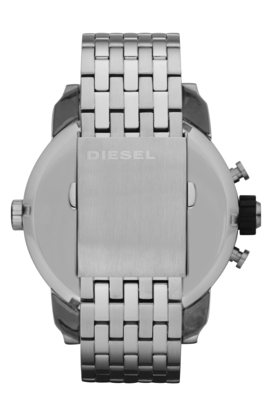 Alternate Image 2  - DIESEL® 'Little Daddy' Chronograph Bracelet Watch, 51mm