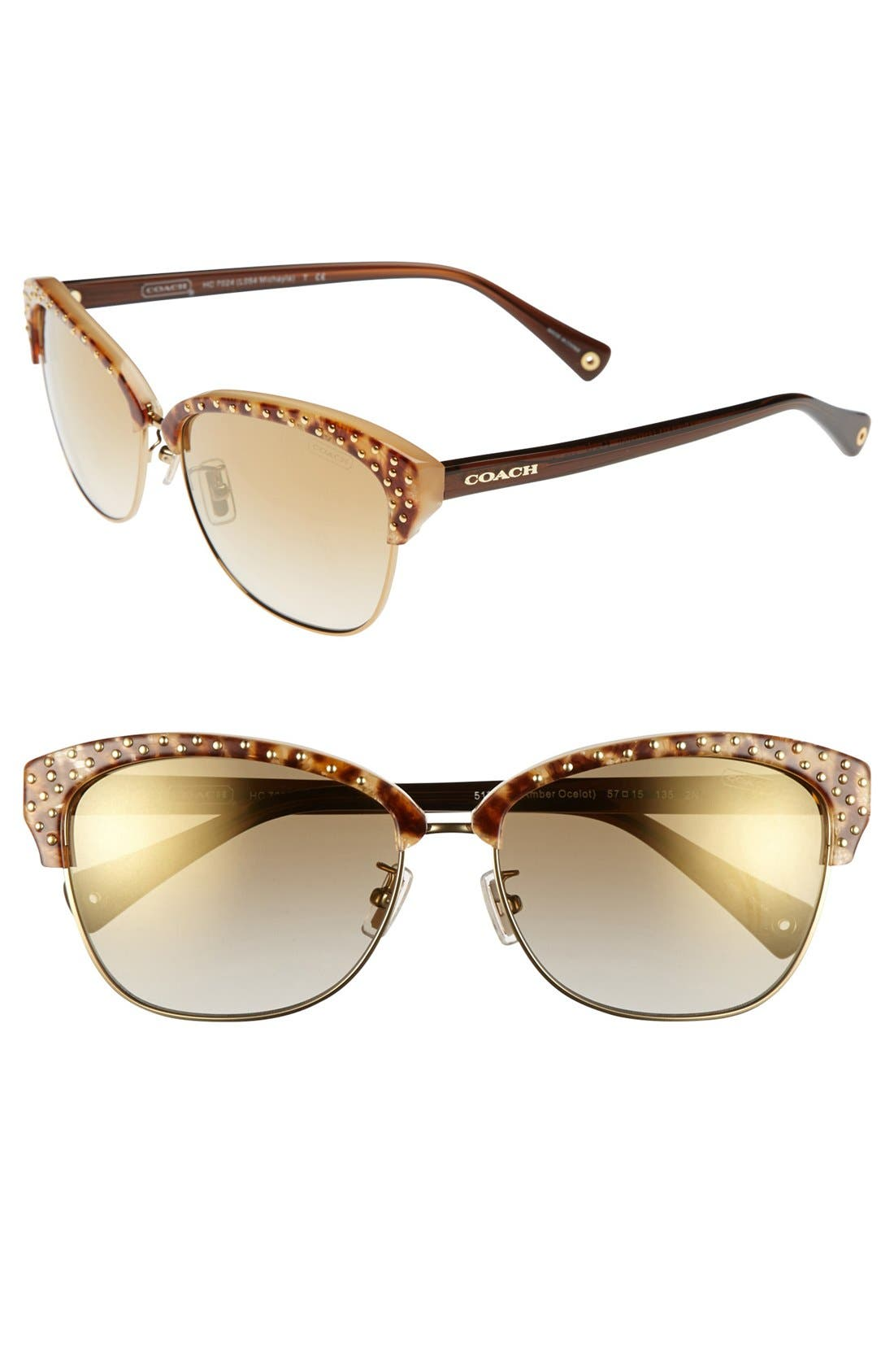 Alternate Image 1 Selected - COACH 'Clubmaster' 57mm Cat Eye Sunglasses