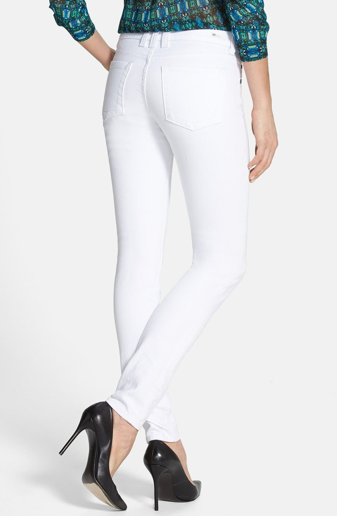 Alternate Image 2  - KUT from the Kloth 'Mia' Skinny Jeans (White)