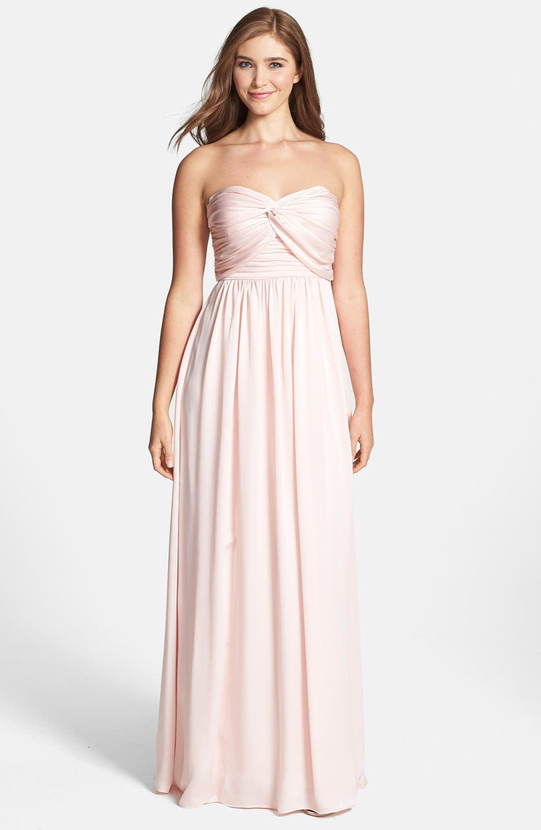 Main Image - Jarlo Ruched Satin Gown