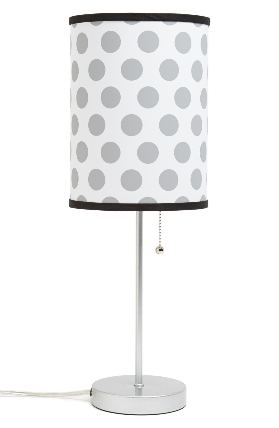 Alternate Image 1 Selected - LAMP-IN-A-BOX Grey Dots Table Lamp