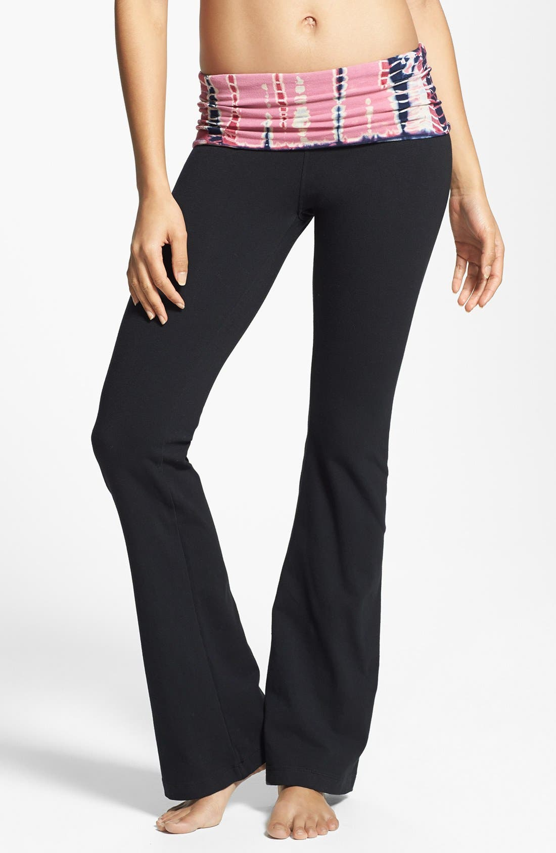 Main Image - Hard Tail Contour Roll Waist Pants