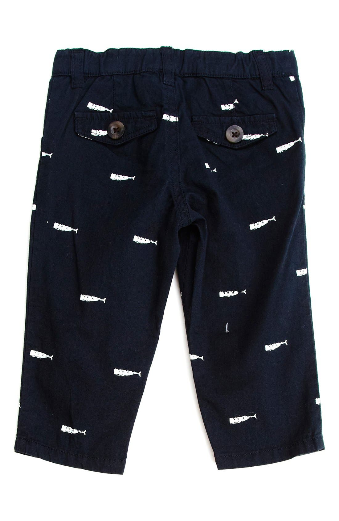Alternate Image 2  - Peek Whale Print Shorts (Toddler Boys, Little Boys & Big Boys)
