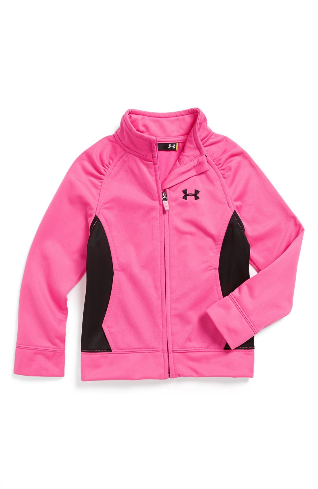 Alternate Image 1 Selected - Under Armour 'Time Out' Track Jacket (Toddler Girls)