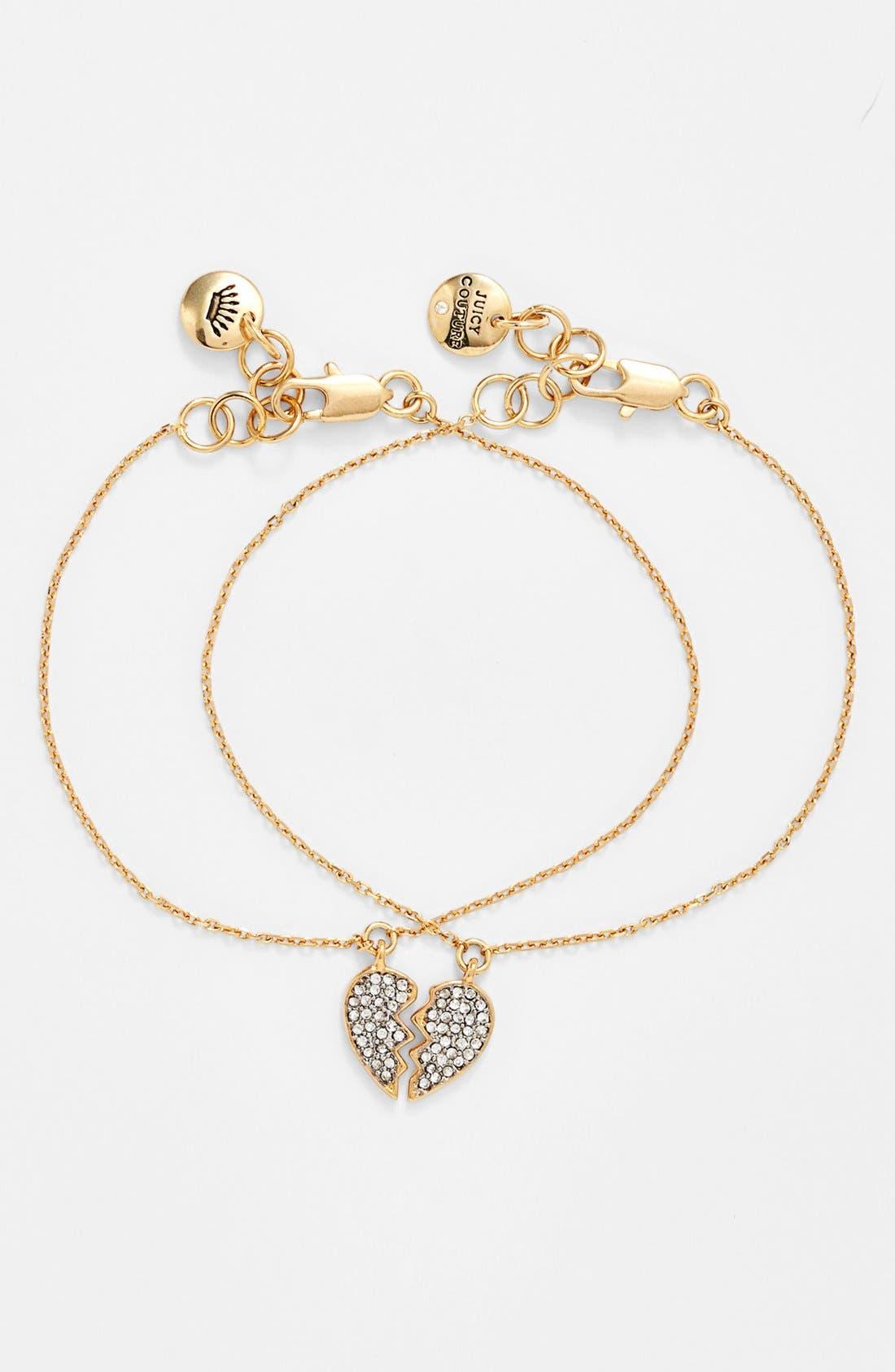 Main Image - Juicy Couture 'Signatures' Friendship Charm Bracelets (Set of 2)