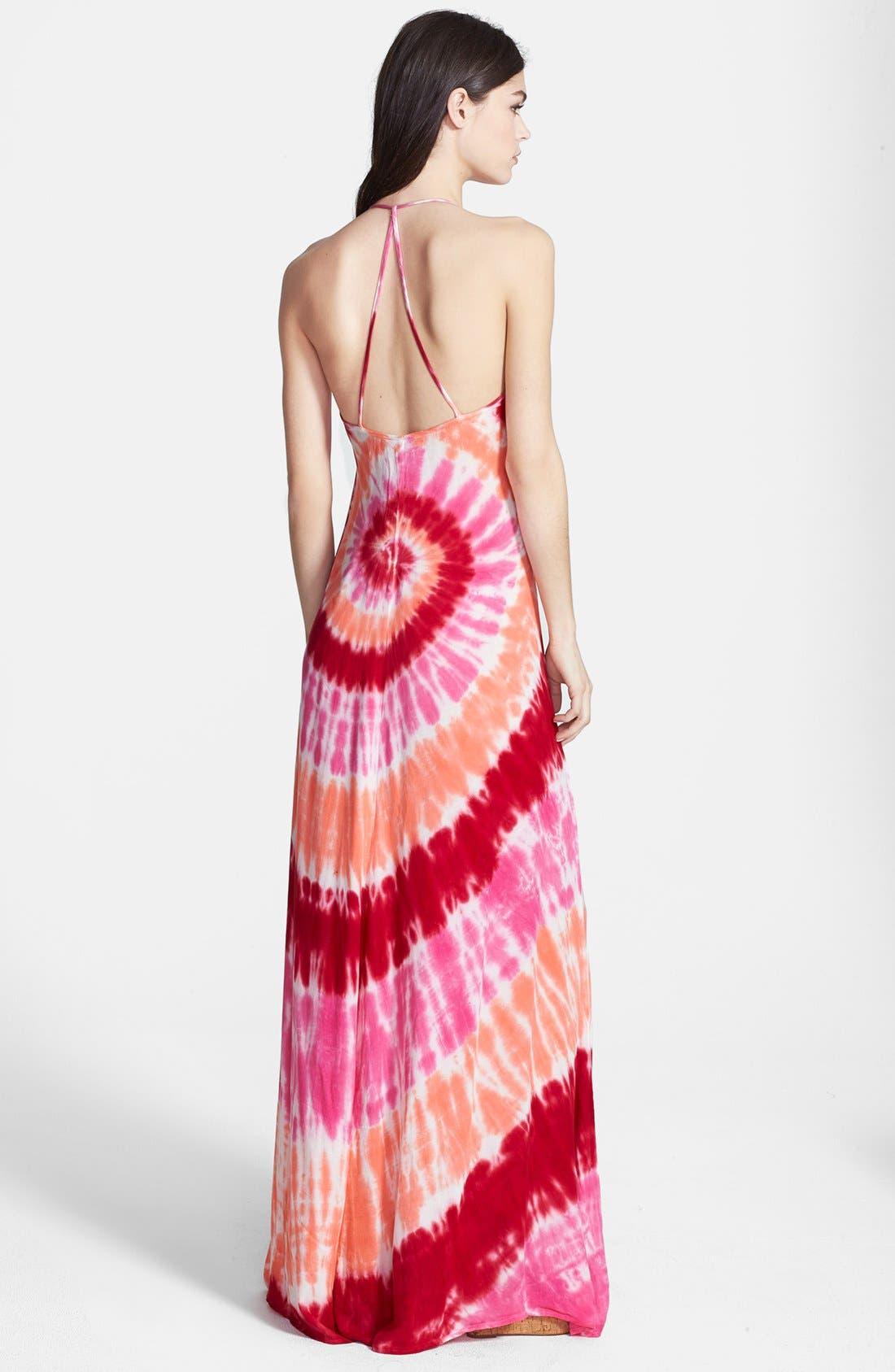 Alternate Image 2  - Young, Fabulous & Broke 'Fortune' Tie Dye Maxi Dress