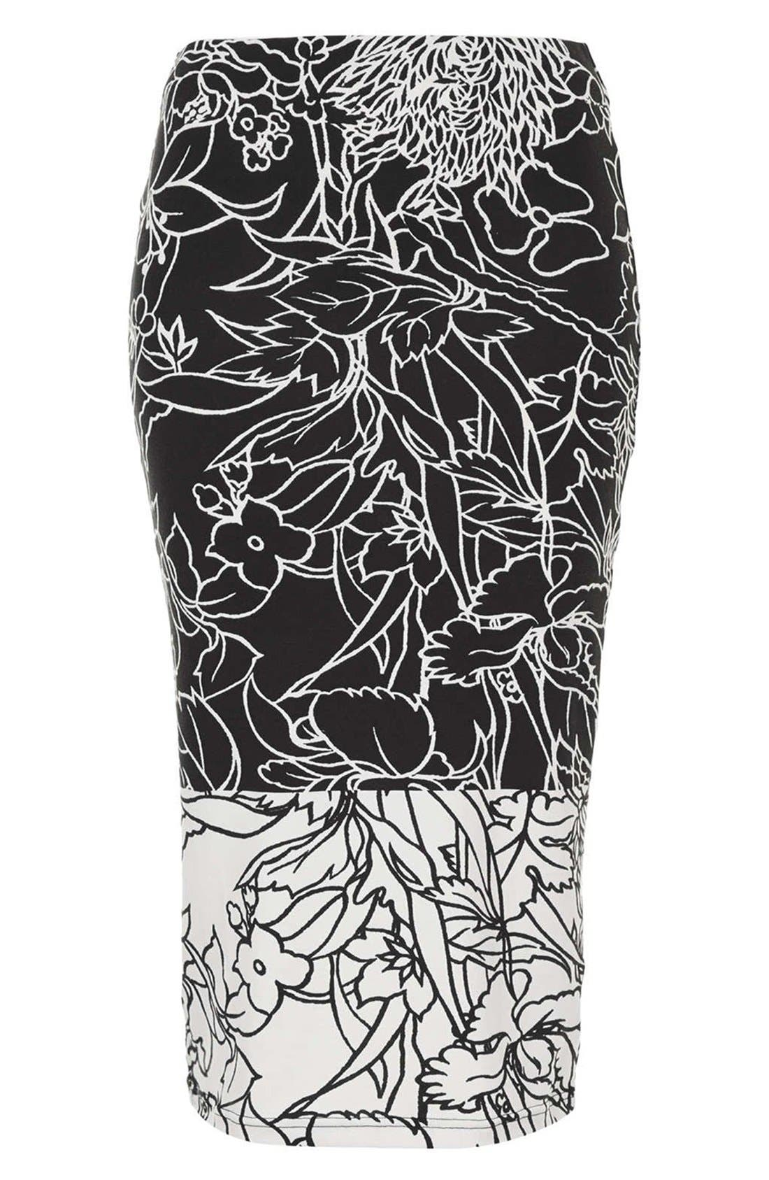 Alternate Image 3  - Topshop 'Pen Garden' Floral Print Tube Skirt