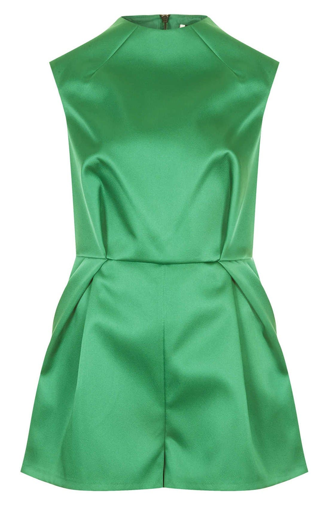 Alternate Image 3  - Topshop High Neck Satin Romper