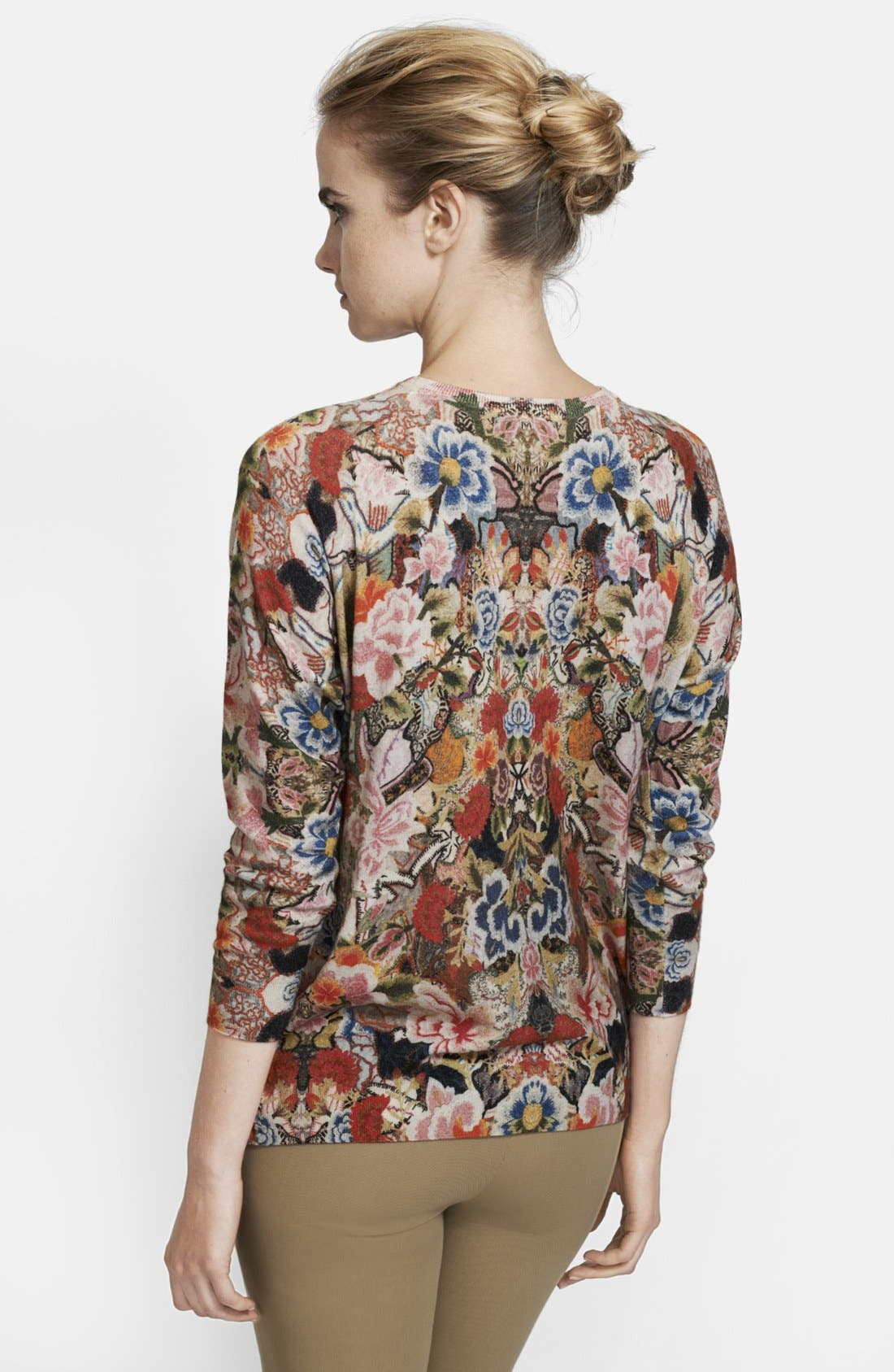 Alternate Image 2  - Alexander McQueen Patchwork Floral Print Sweater