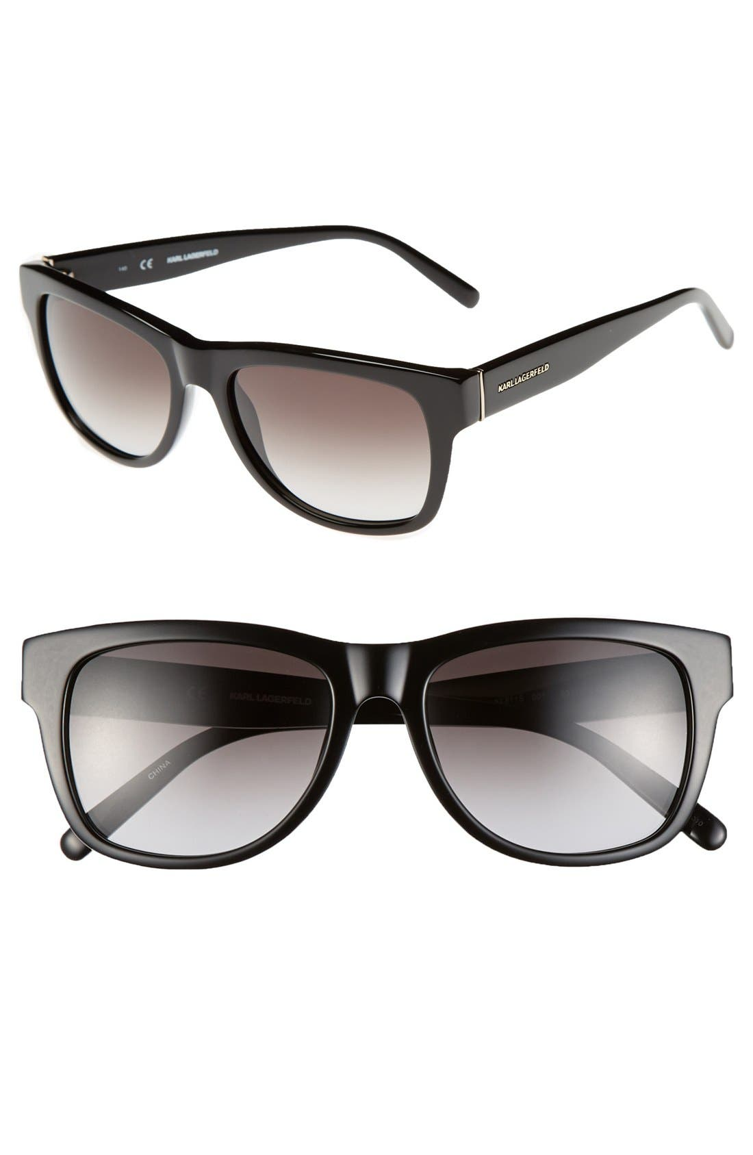 Main Image - Karl Lagerfeld 53mm Rectangular Cat Eye Sunglasses