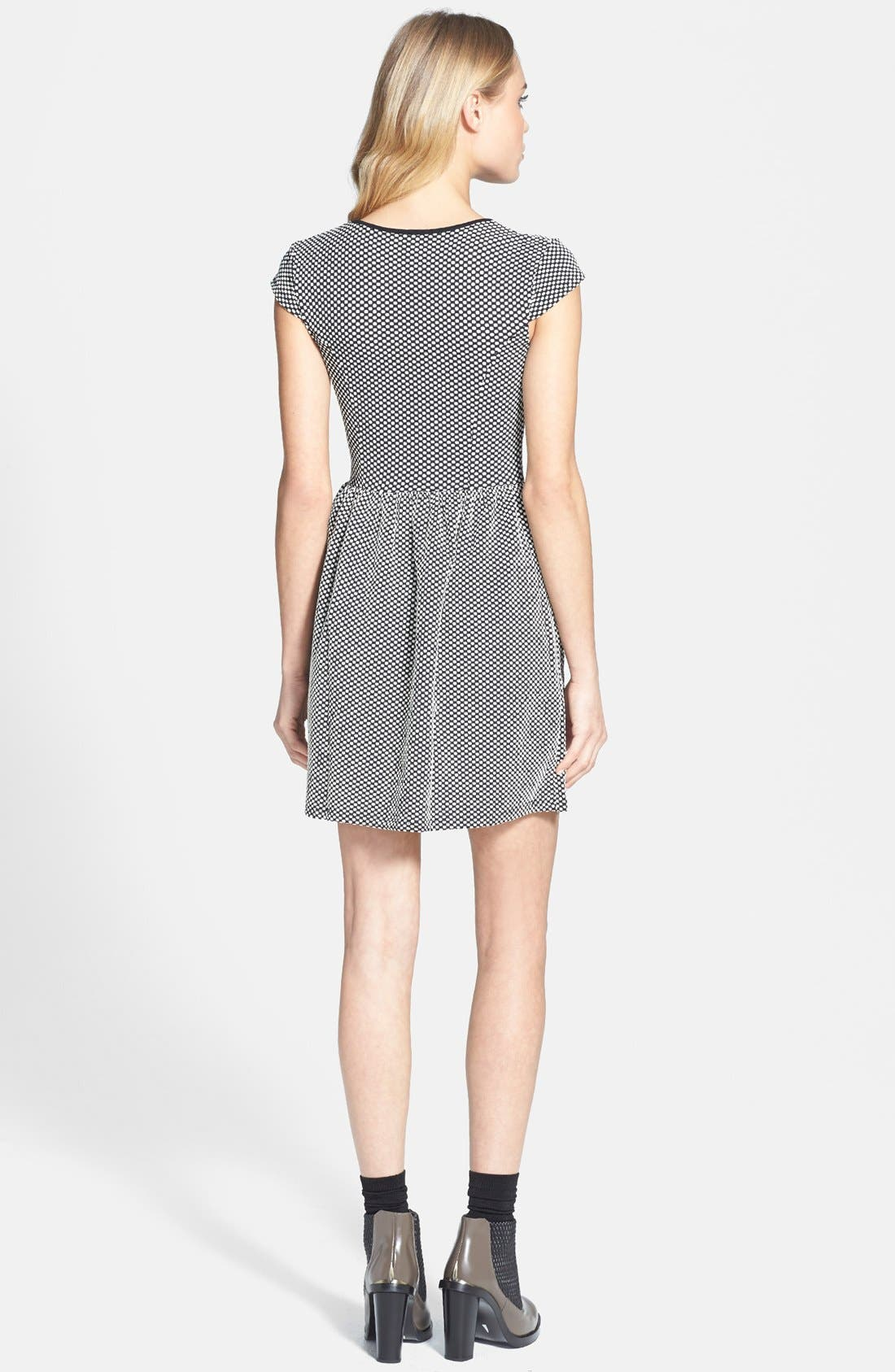 Alternate Image 2  - Topshop Jacquard Dot Skater Dress