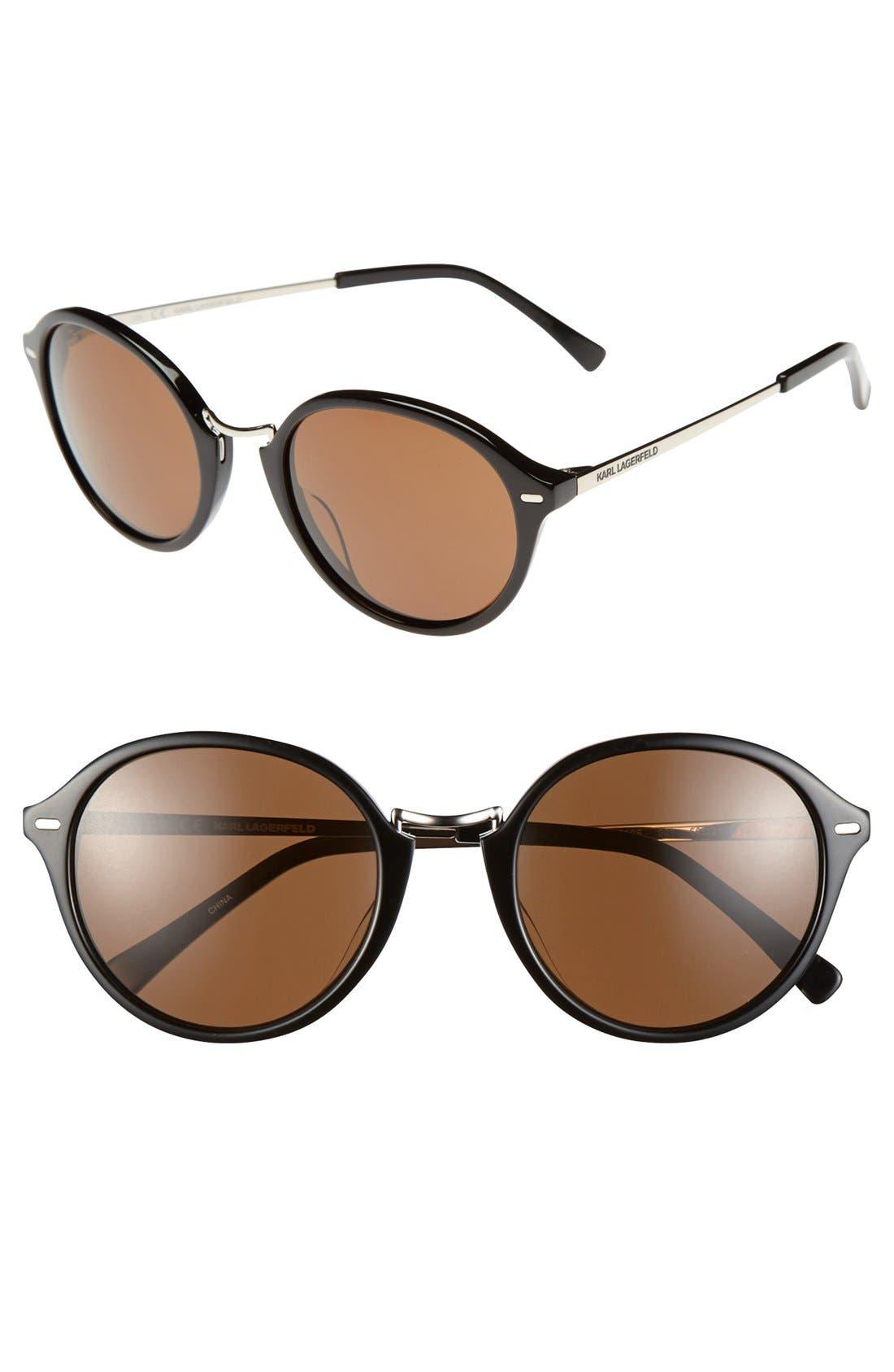 Alternate Image 1 Selected - Karl Lagerfeld 50mm Round Sunglasses