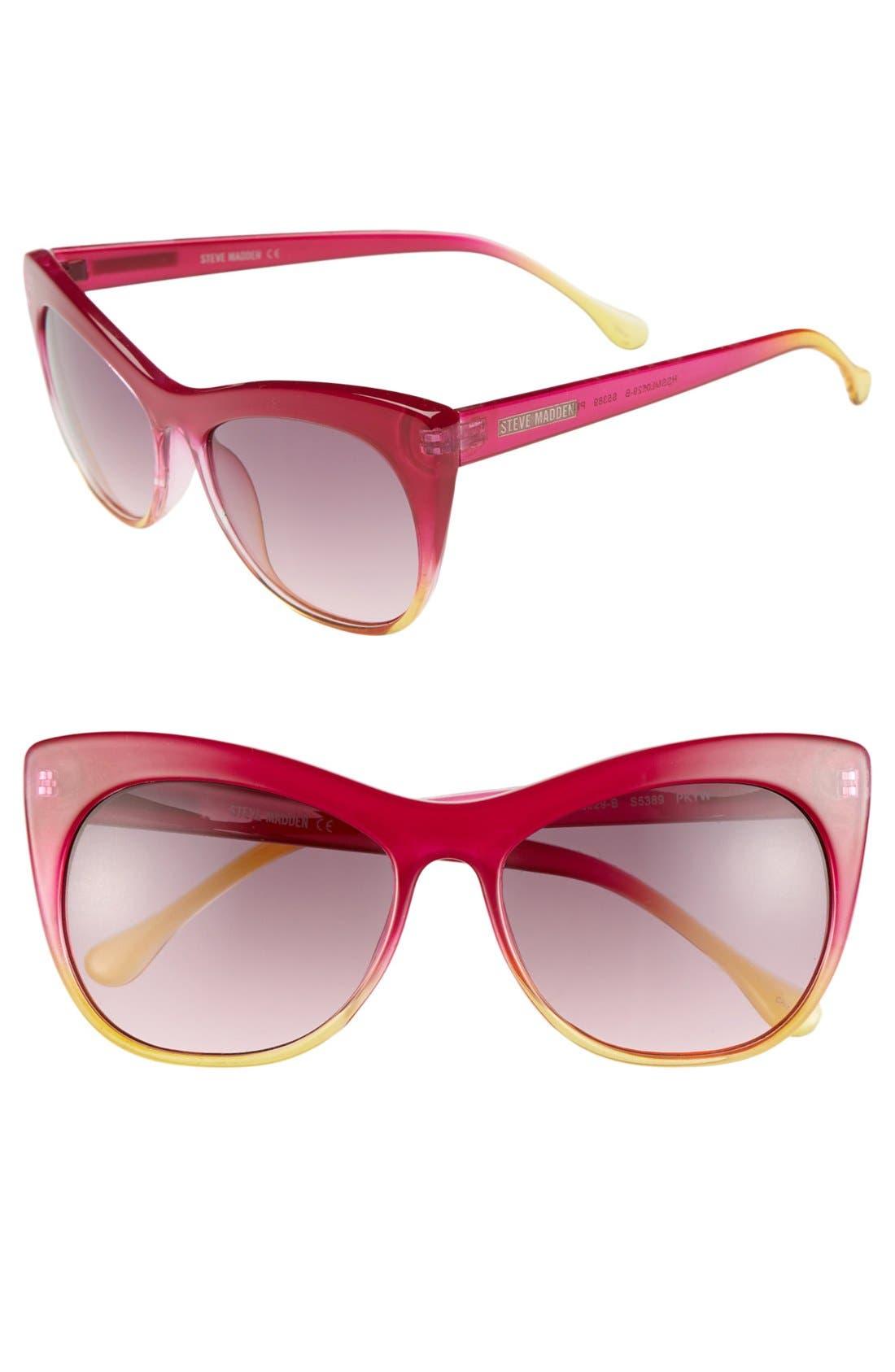 Alternate Image 1 Selected - Steve Madden 55mm Cat Eye Sunglasses