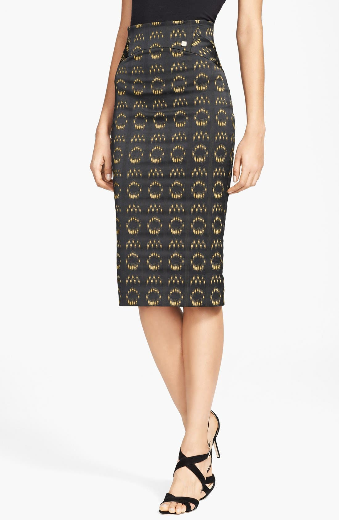 Alternate Image 1 Selected - Versace Collection Jacquard Pencil Skirt