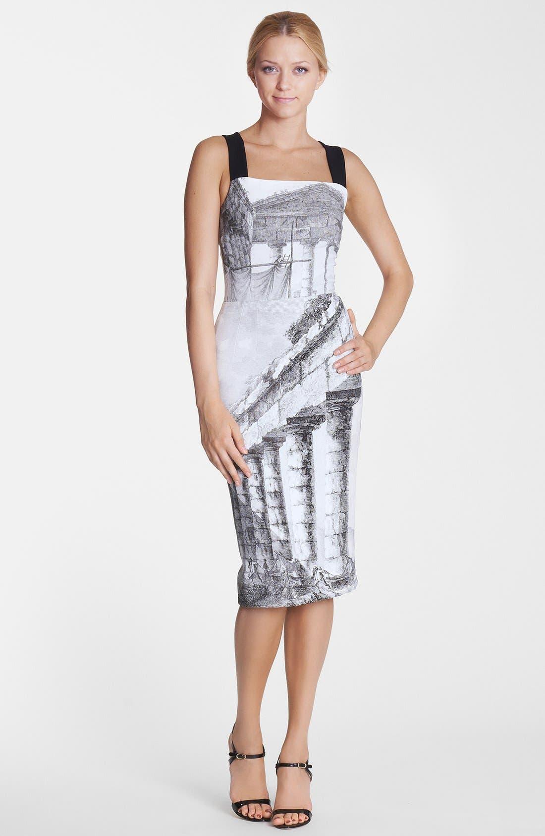 Alternate Image 1 Selected - Dolce&Gabbana Temple Print Tank Dress