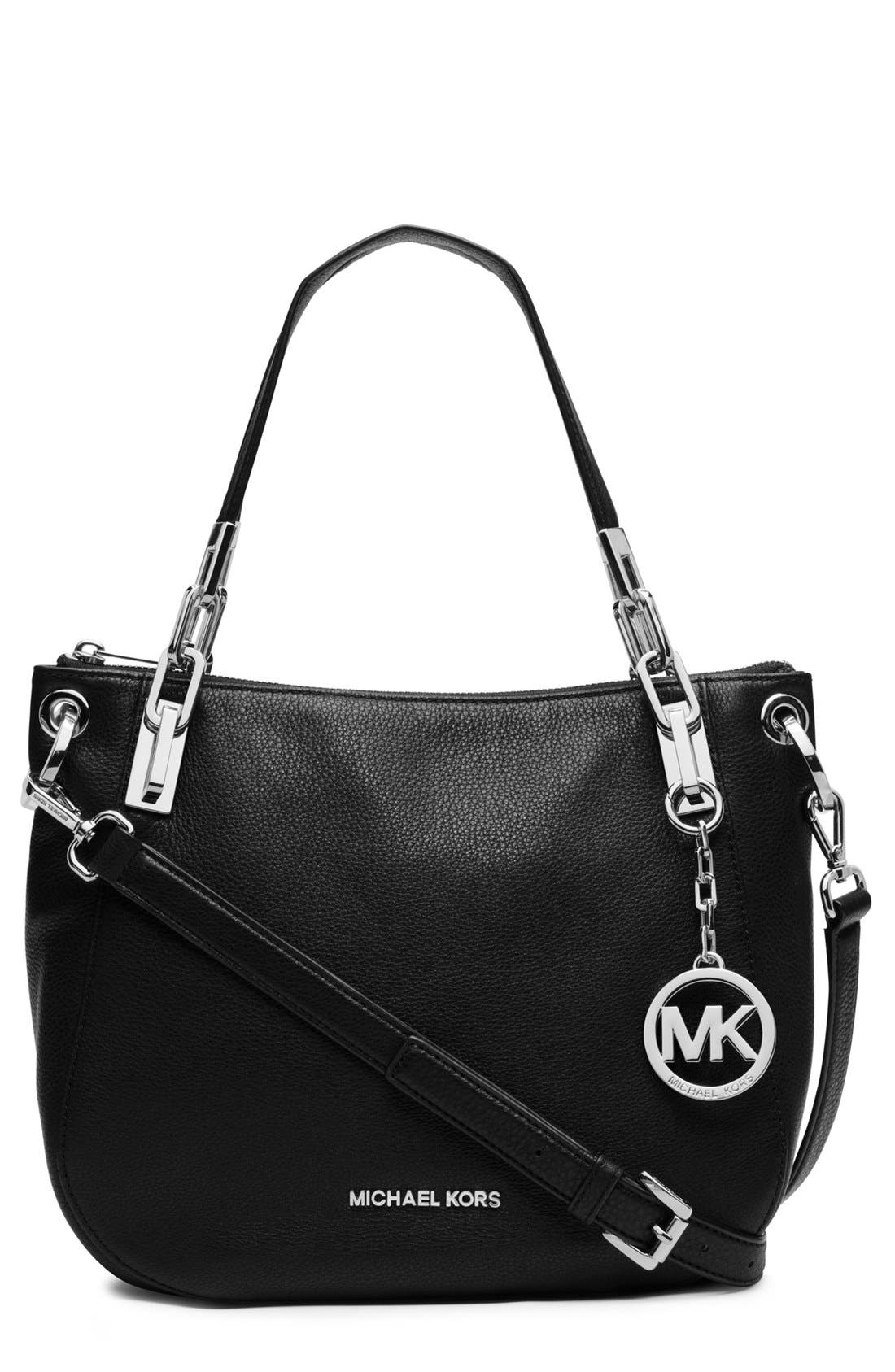 Alternate Image 1 Selected - MICHAEL Michael Kors 'Brooke' Leather Shoulder Bag
