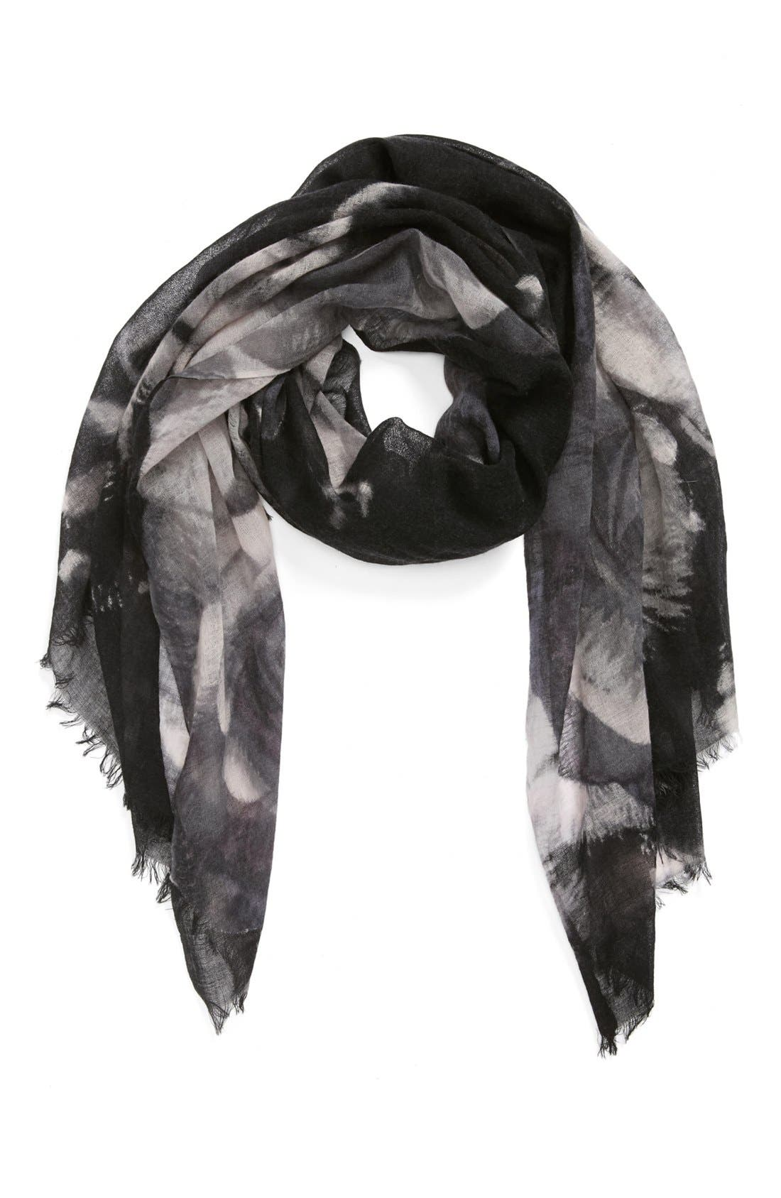 Main Image - Nordstrom 'Rosey Reflection' Wool Scarf