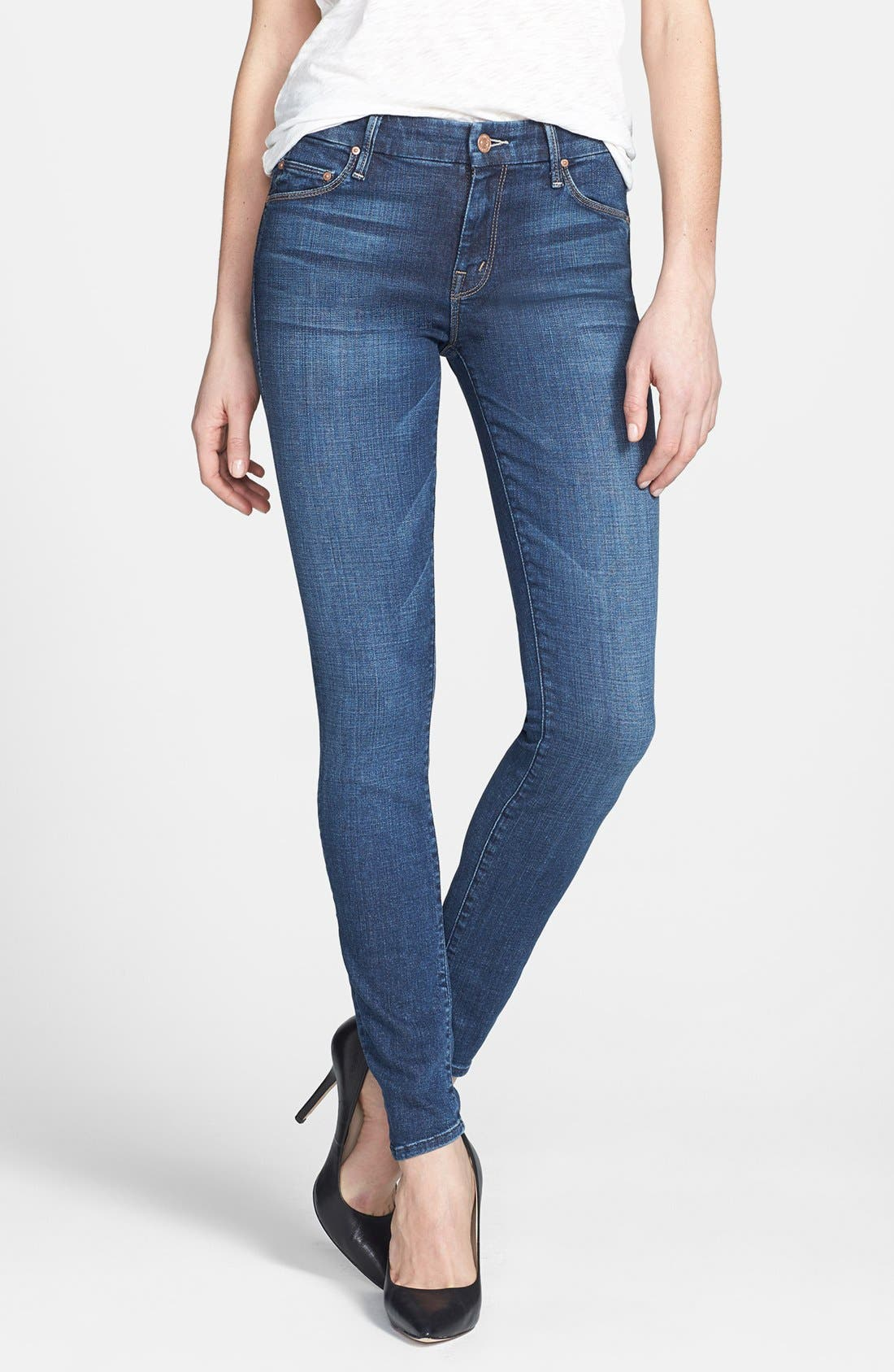 Alternate Image 1 Selected - MOTHER 'The Looker' Skinny Jeans (Slow Ride)