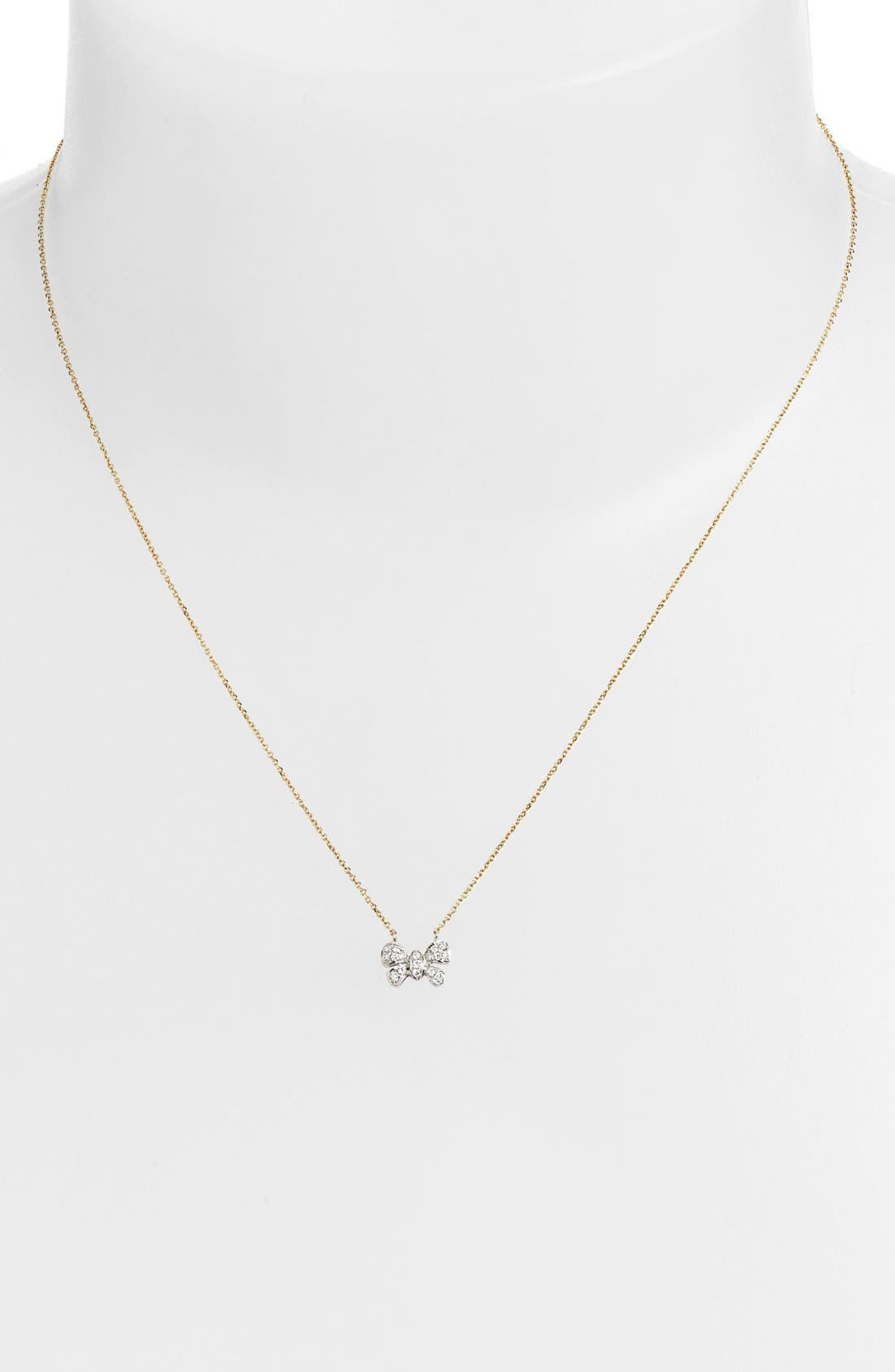 Alternate Image 1 Selected - Dana Rebecca Designs 'Margo Ashley' Diamond Bow Pendant Necklace