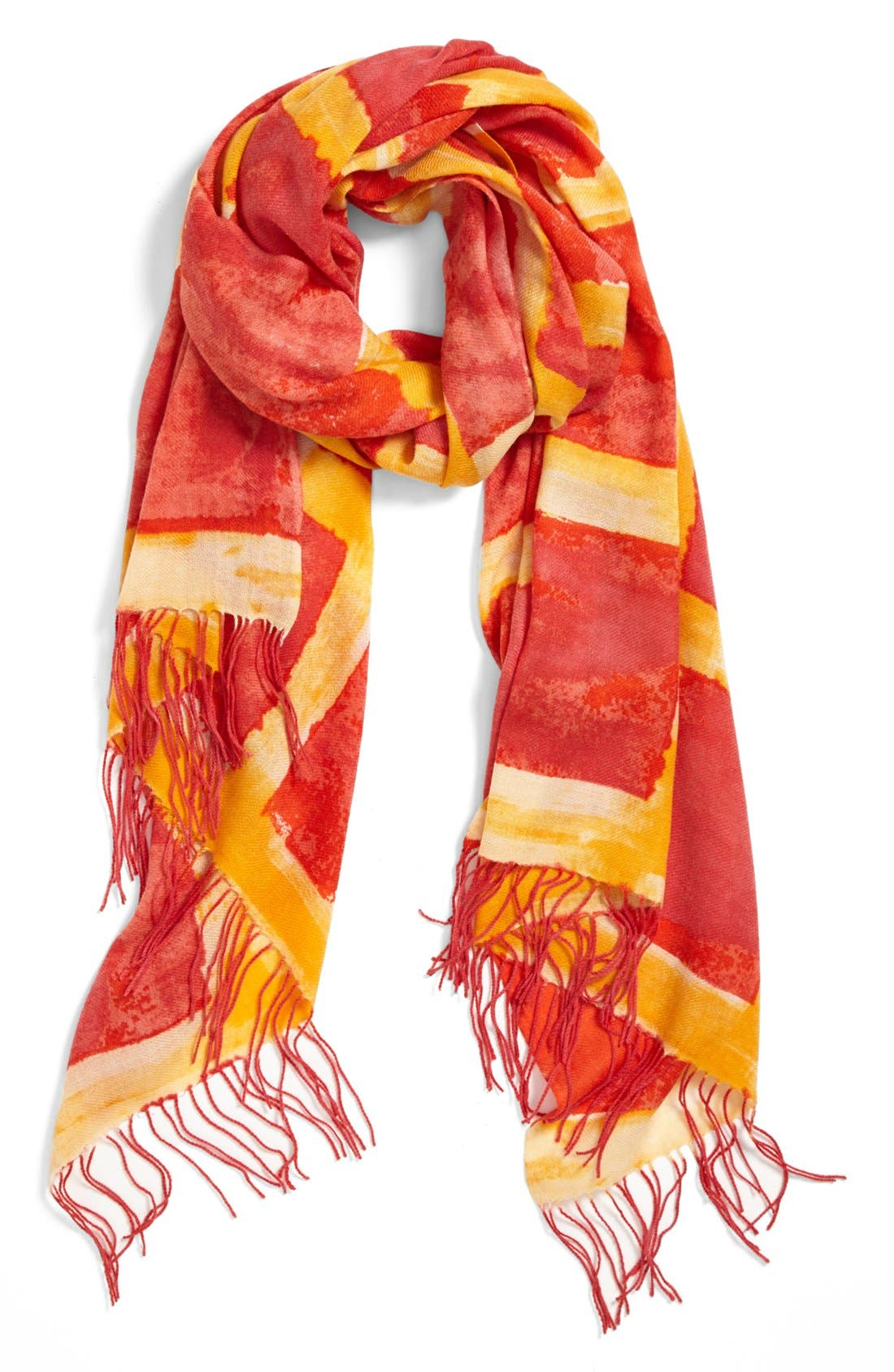 Alternate Image 1 Selected - Nordstrom 'Space Plaid' Cashmere & Wool Scarf