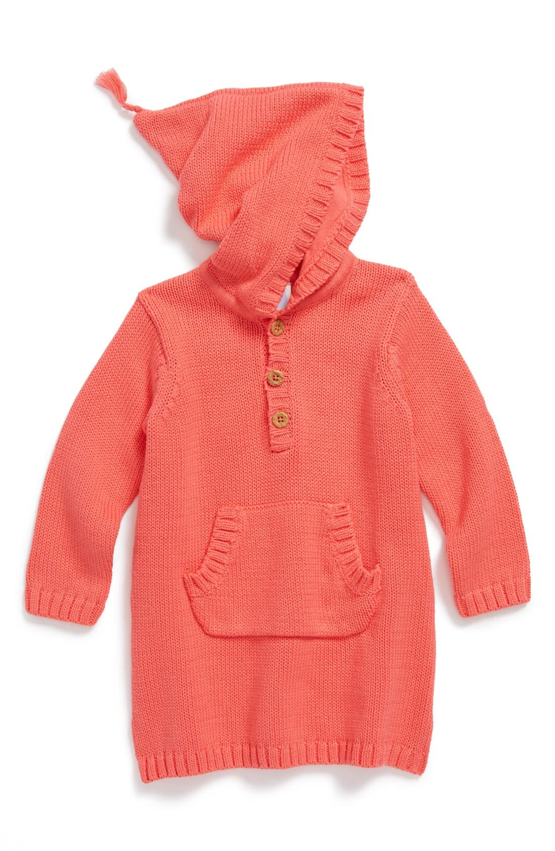 Alternate Image 1 Selected - Stem Baby Hooded Organic Cotton Sweater Dress (Baby Girls)