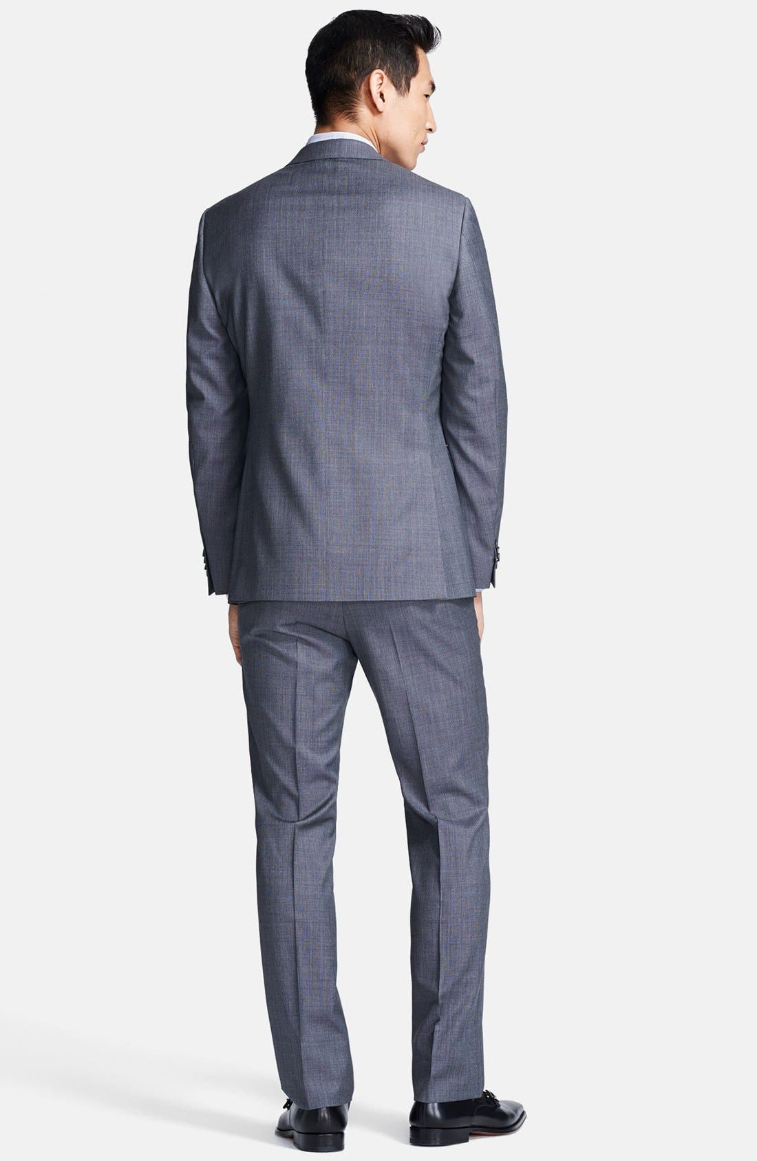 Alternate Image 2  - Z Zegna Trim Fit Grey Textured Wool Suit