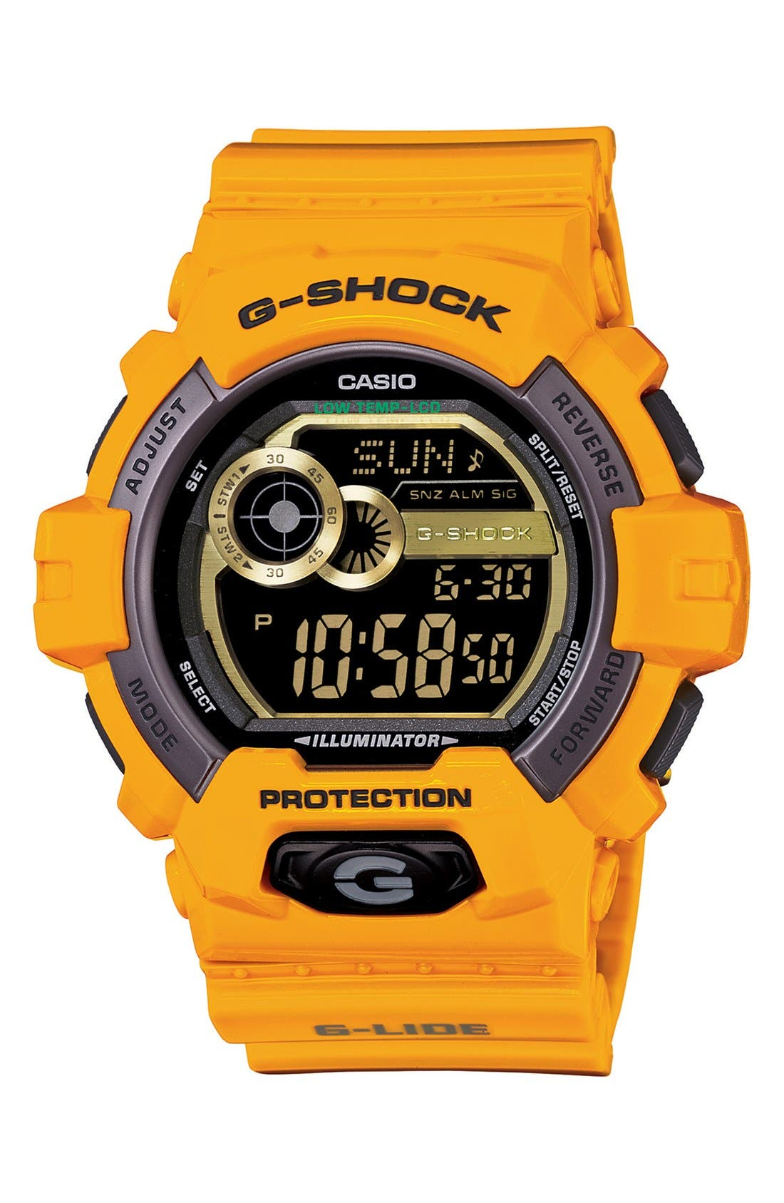 Main Image - G-Shock 'Glide Color' Digital Watch, 55mm