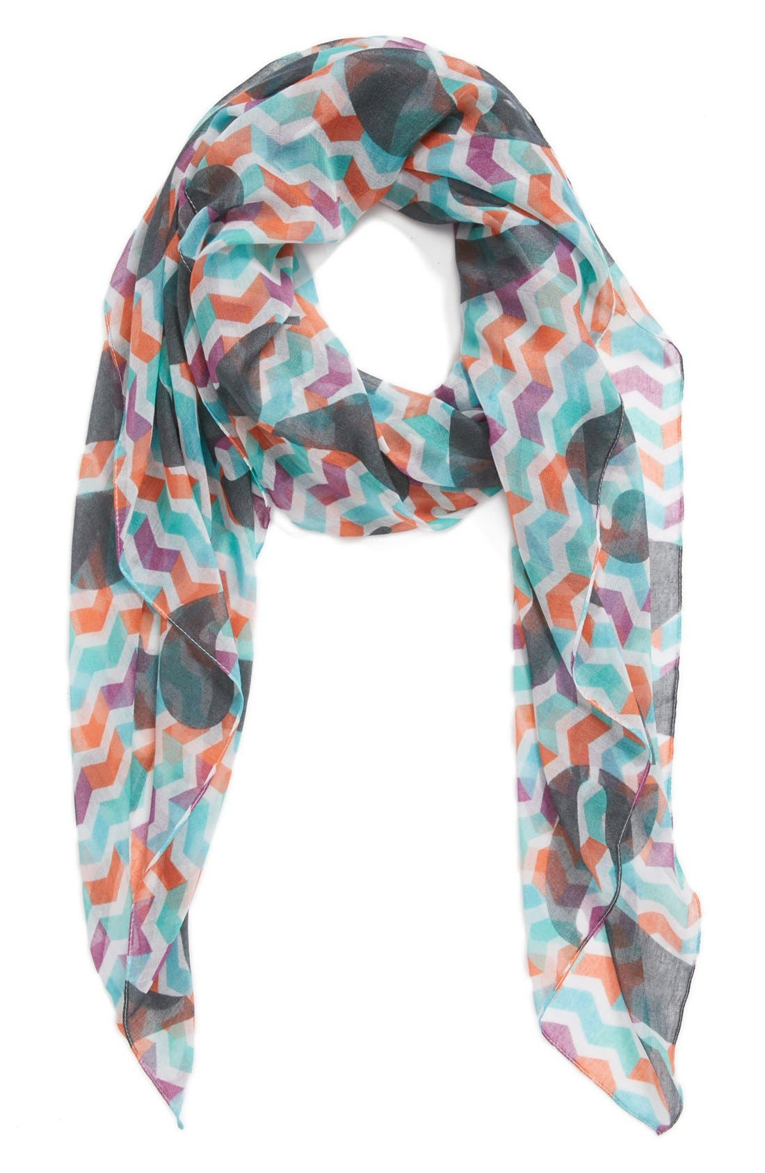 Alternate Image 1 Selected - Leith 'Chevron Numerical' Scarf