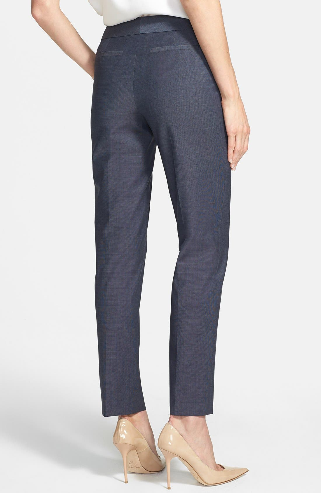 Alternate Image 2  - Classiques Entier® 'Simone' Slim Wool Suiting Pants