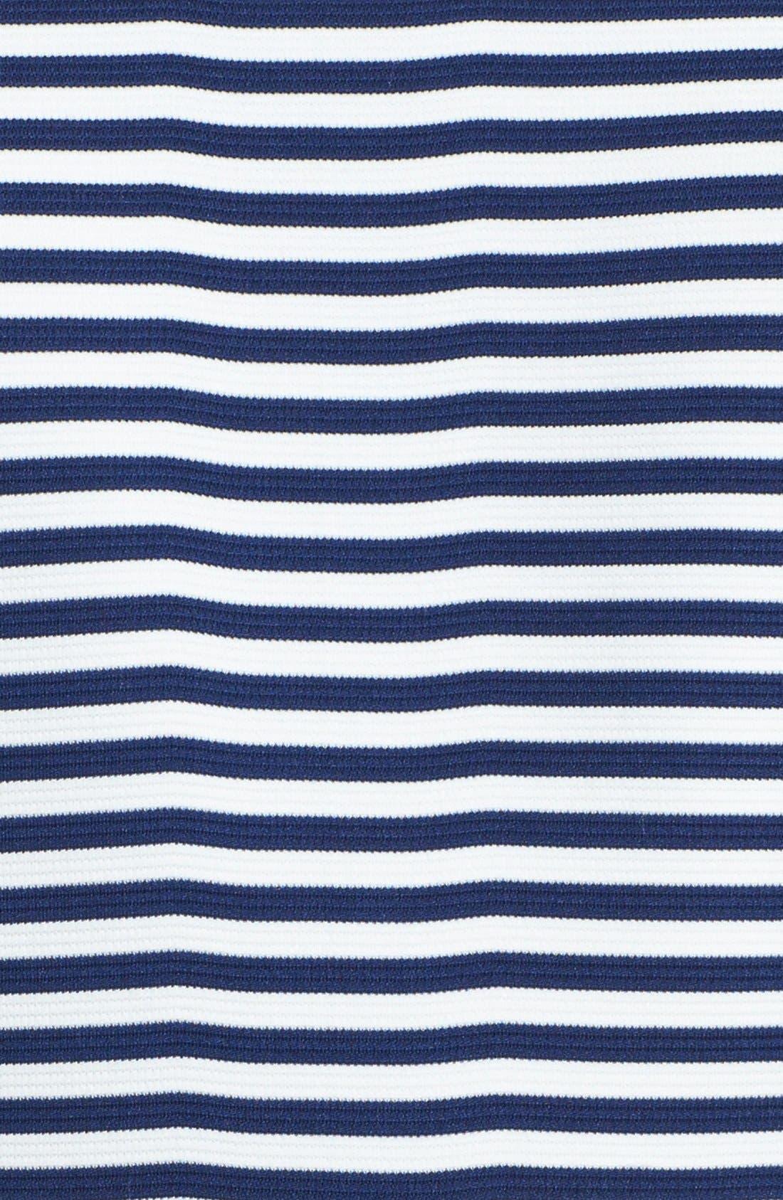 Alternate Image 4  - Ivy & Blu Stripe Ponte Knit Peplum Dress